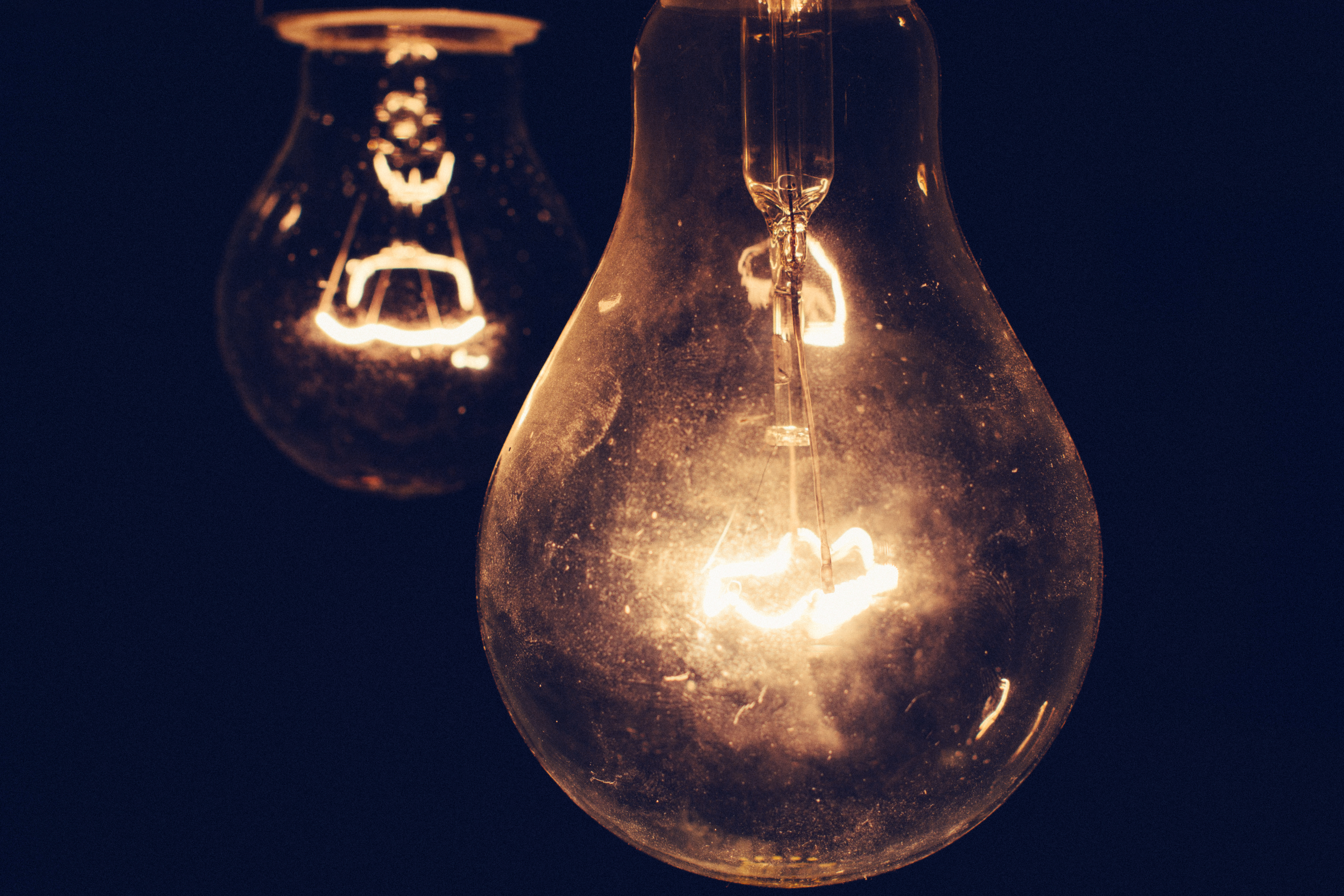 Bulb, Yellow, Lights, Light, Electric, HQ Photo