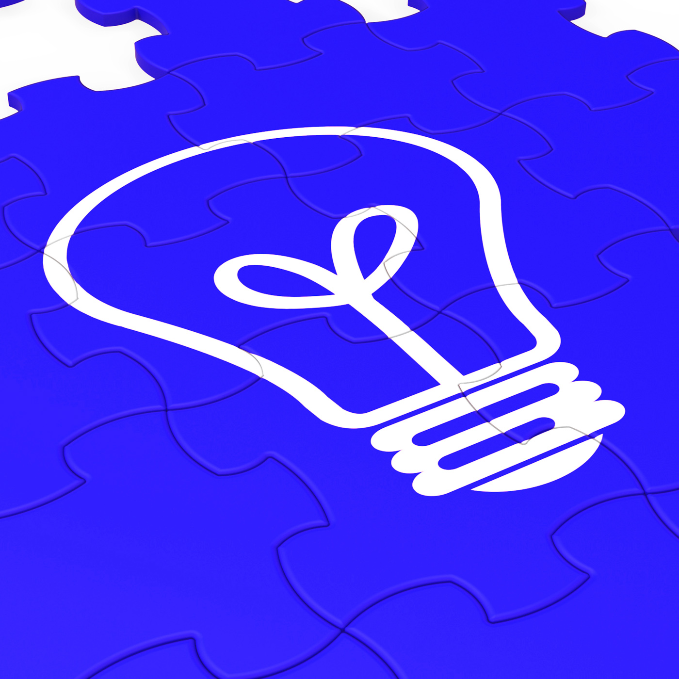 Bulb Puzzle Shows Intelligence And Inventions, Bright, Illuminate, Light, Lamp, HQ Photo
