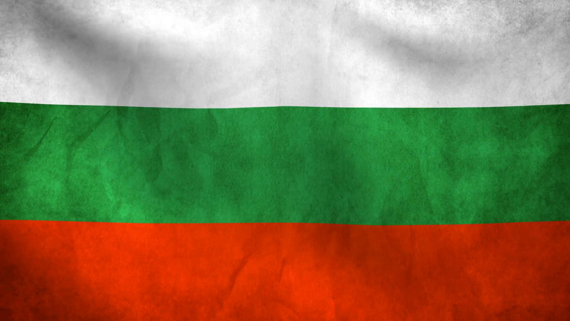 National flag of Bulgaria grunge background Motion Background ...