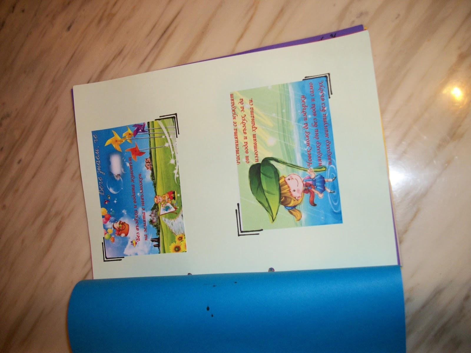Head in the clouds: A book about Water Cycle from bulgarian students