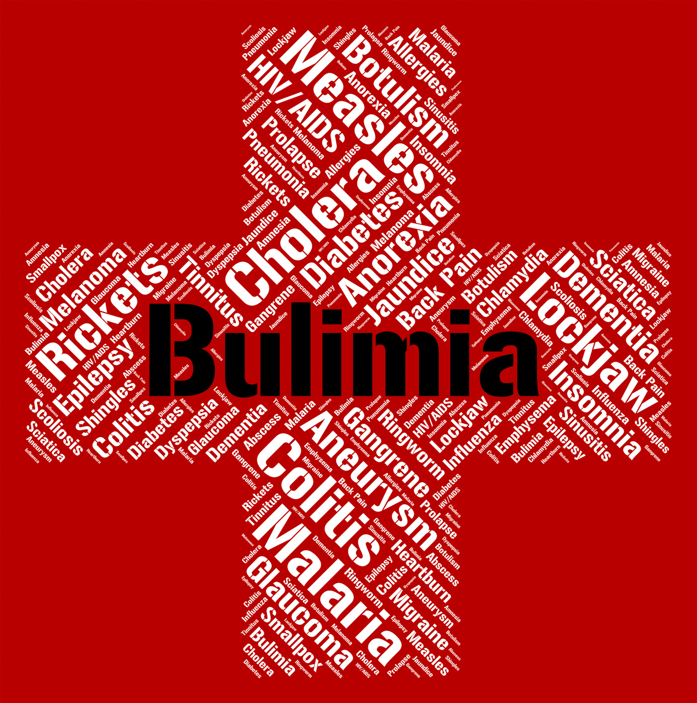 Bulimia Word Means Binge Vomit Syndrome And Affliction, Affliction, Diseased, Pica, Malady, HQ Photo