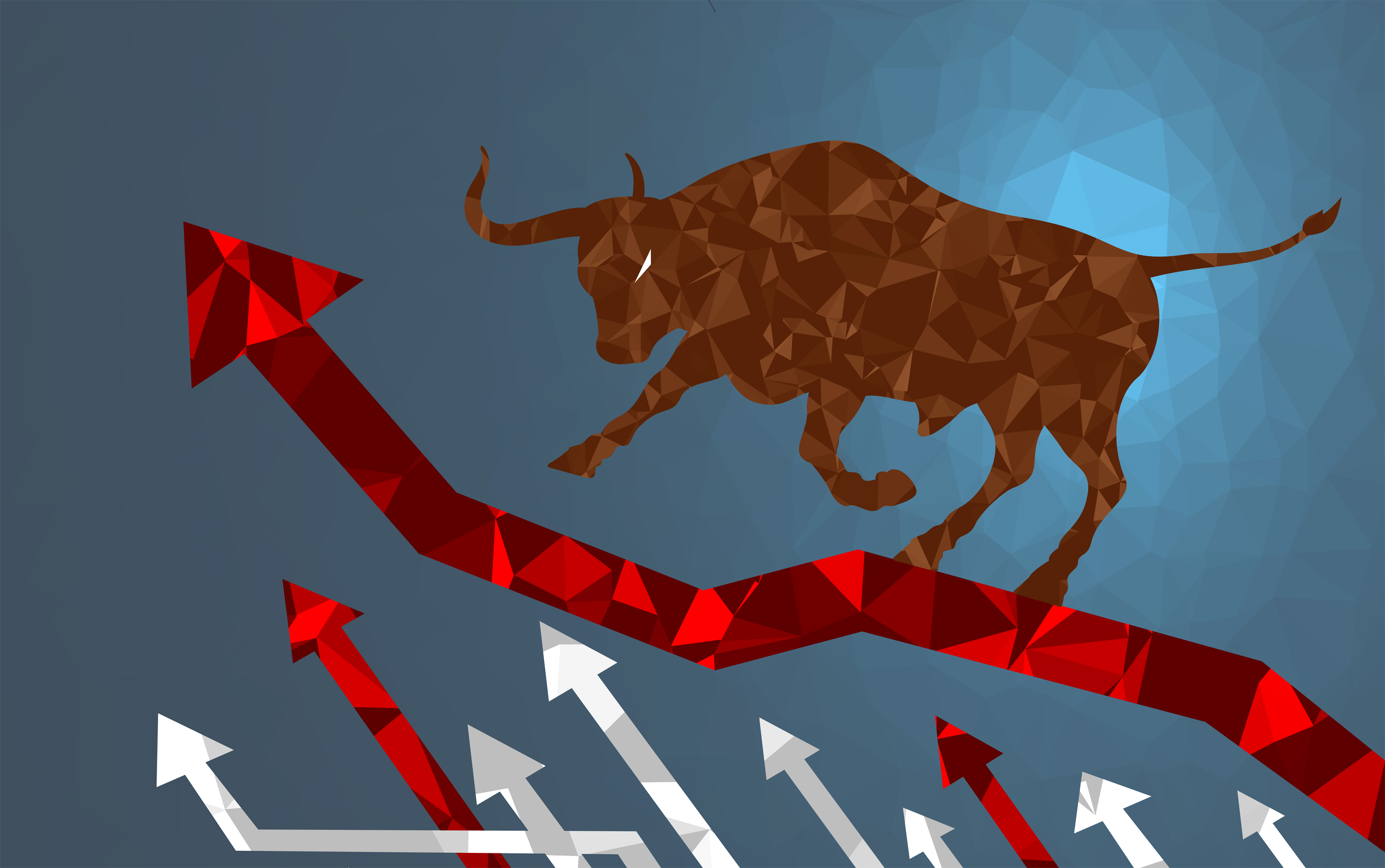 Bull market - markets are climbing photo