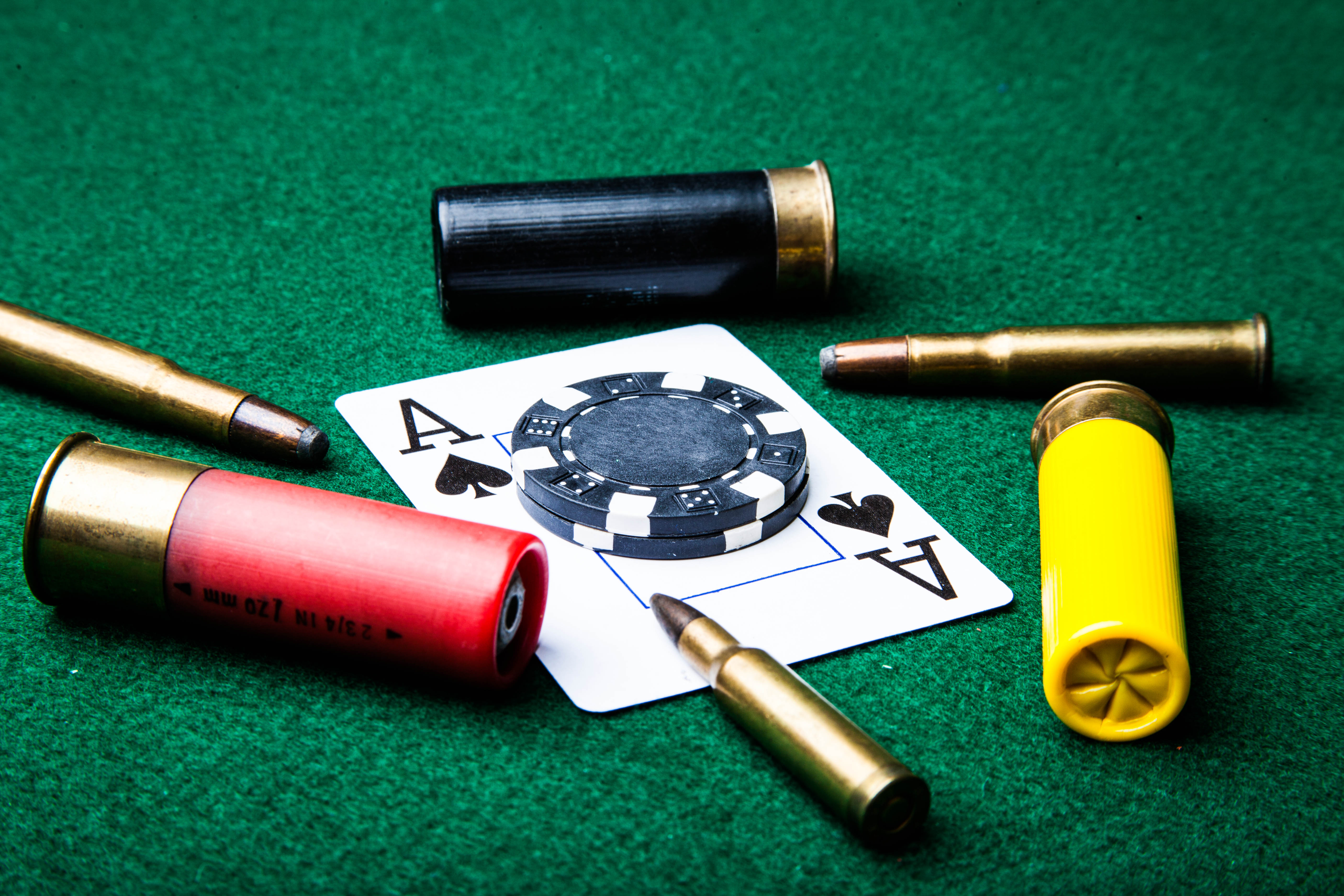 Bullets and ace of spades photo