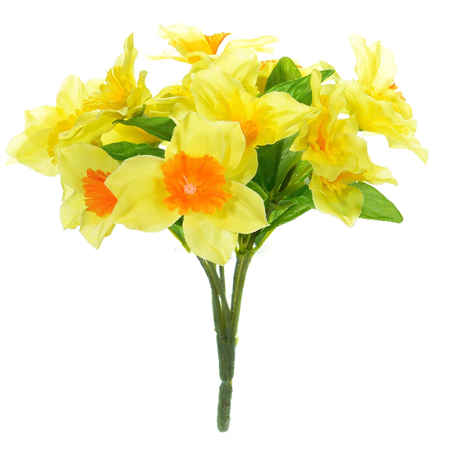 FloristryWarehouse Artificial mini Daffodils 18cm Bunch with 15 ...