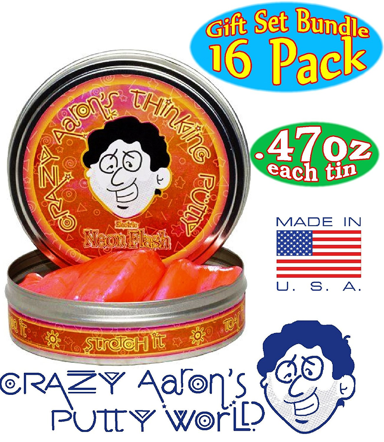 Amazon.com: Crazy Aaron's Thinking Putty Mini Tins Complete Gift Set ...