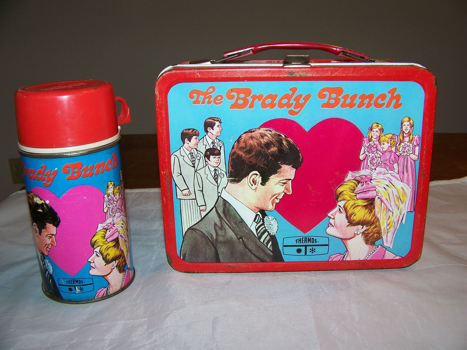 The Brady Bunch Lunch Box & Thermos (Vintage 1970 Metal Lunchbox ...