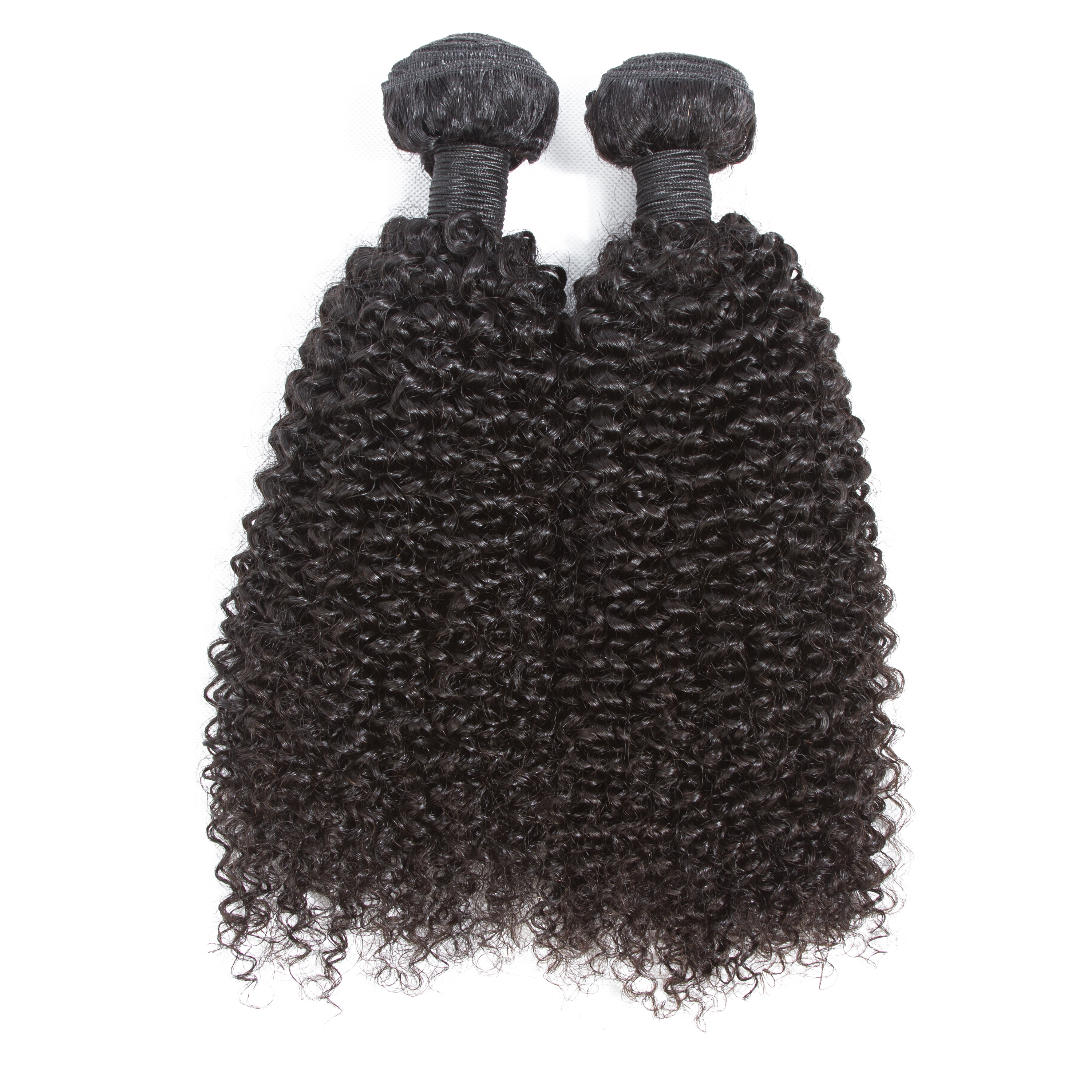 Indian Kinky Curly Weave 2 Bundles 7A