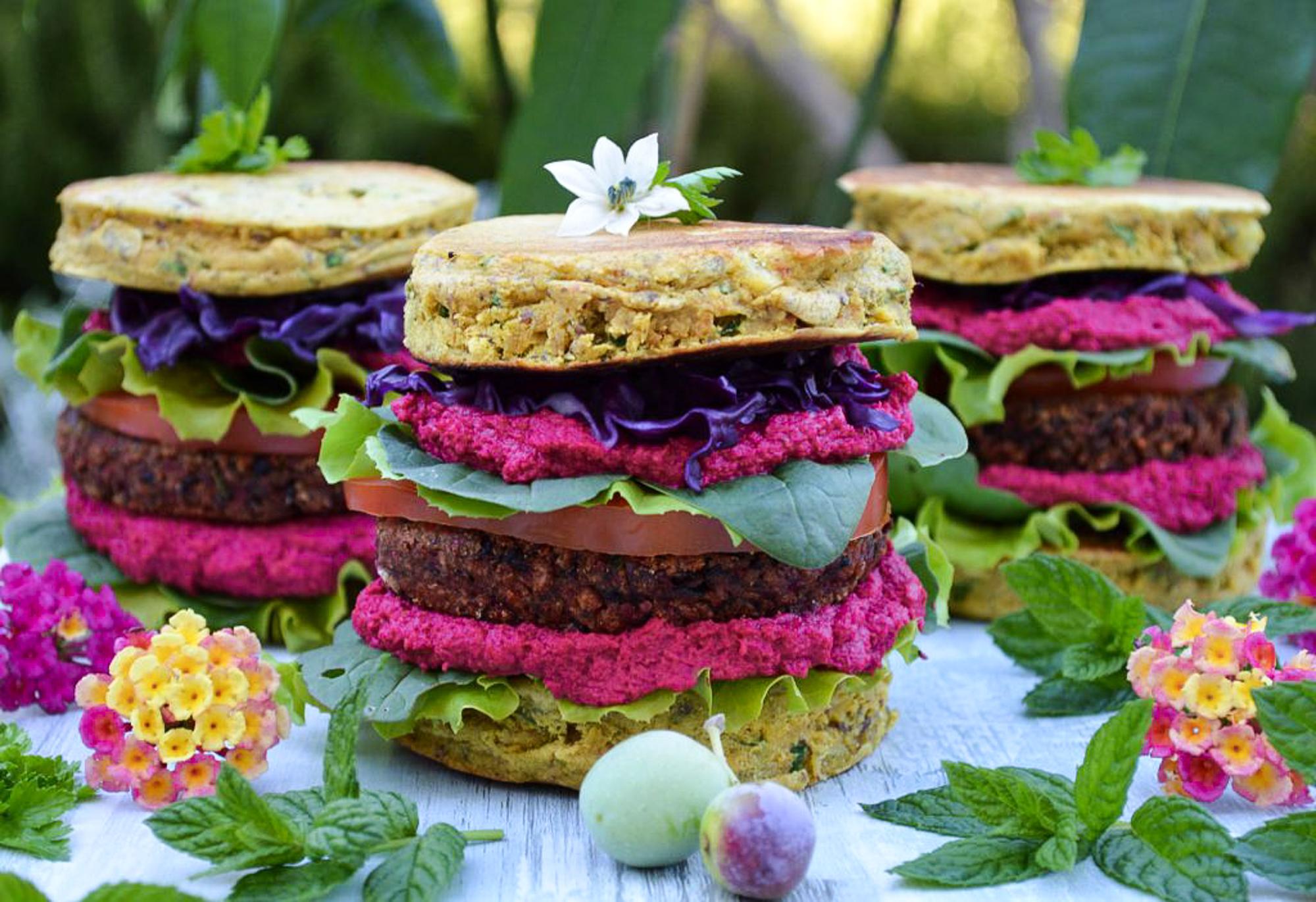 Chickpea flour burger buns – Rainbow in my kitchen