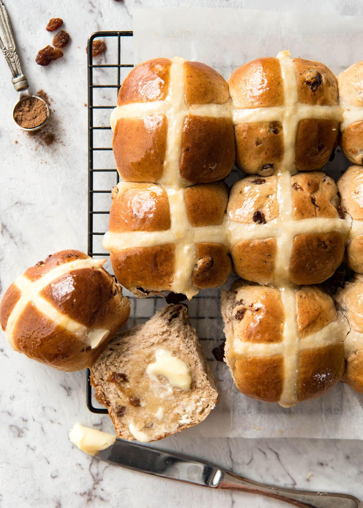 Hot Cross Buns Recipe   RecipeTin Eats