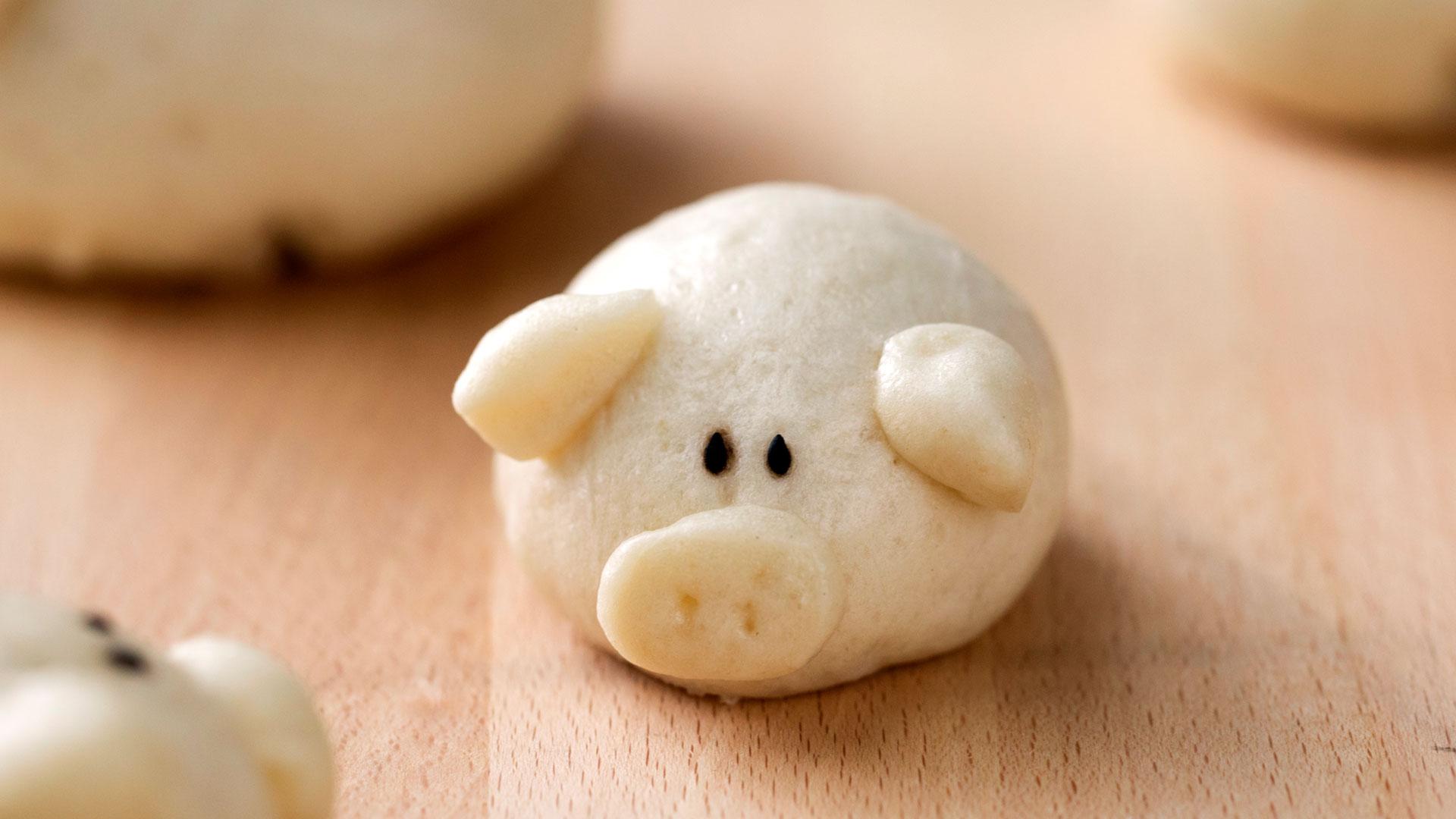 Piggy Steamed Buns with Char Siu Pork ~ Recipe | Tastemade