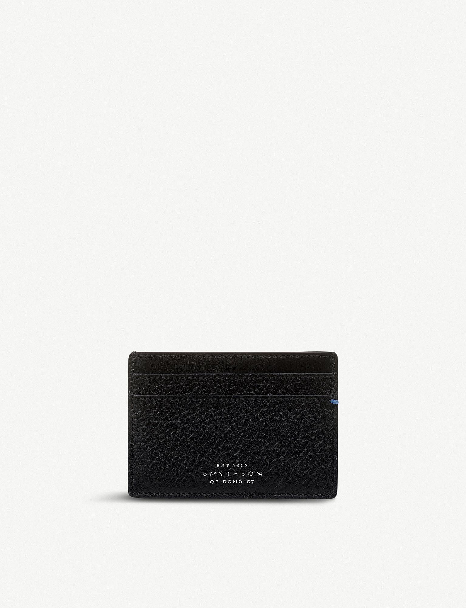 Lyst - Smythson Burlington Leather Card Holder in Black for Men