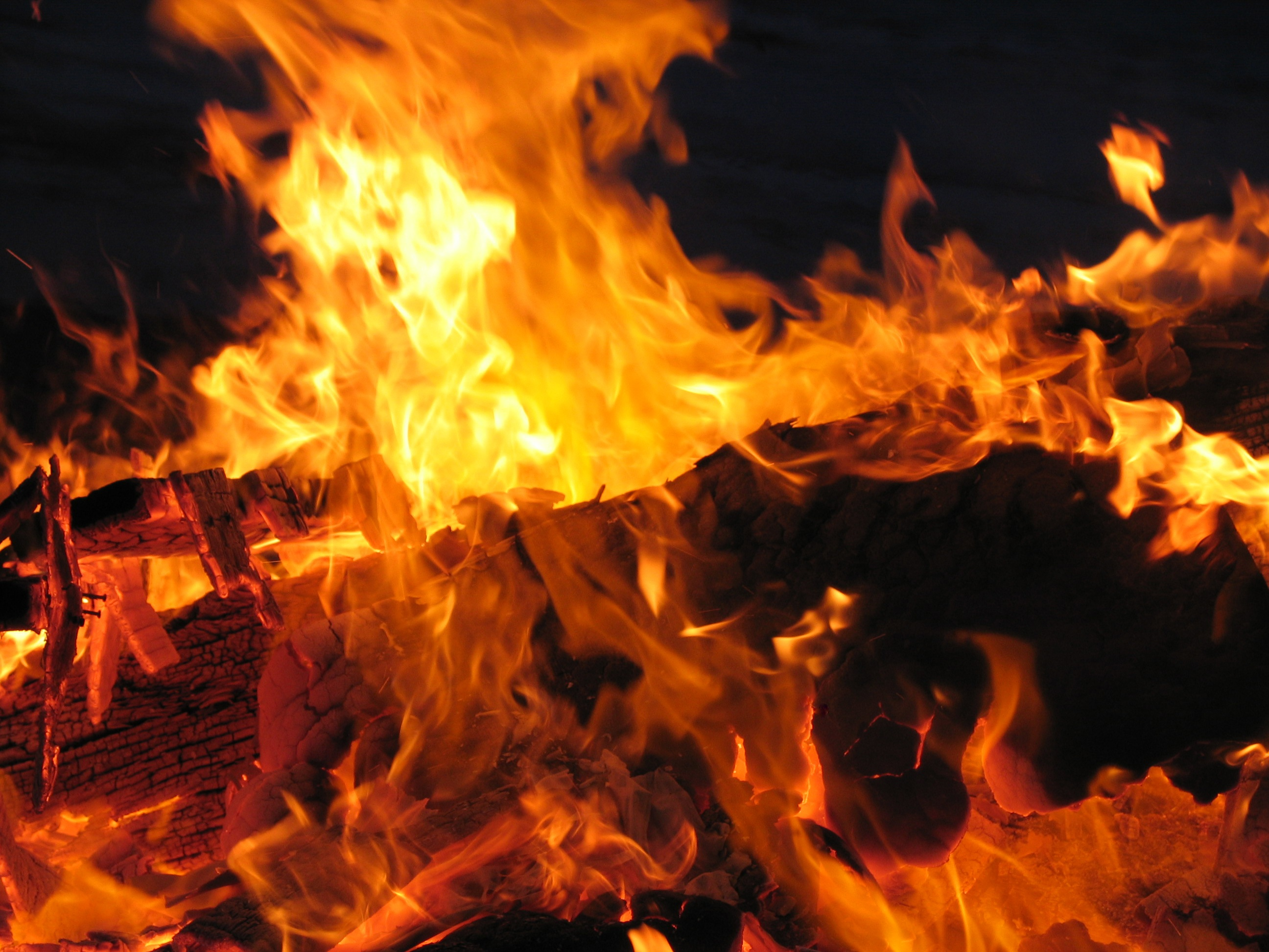 Burning, Wood, Yellow, Fuel, Burn, HQ Photo