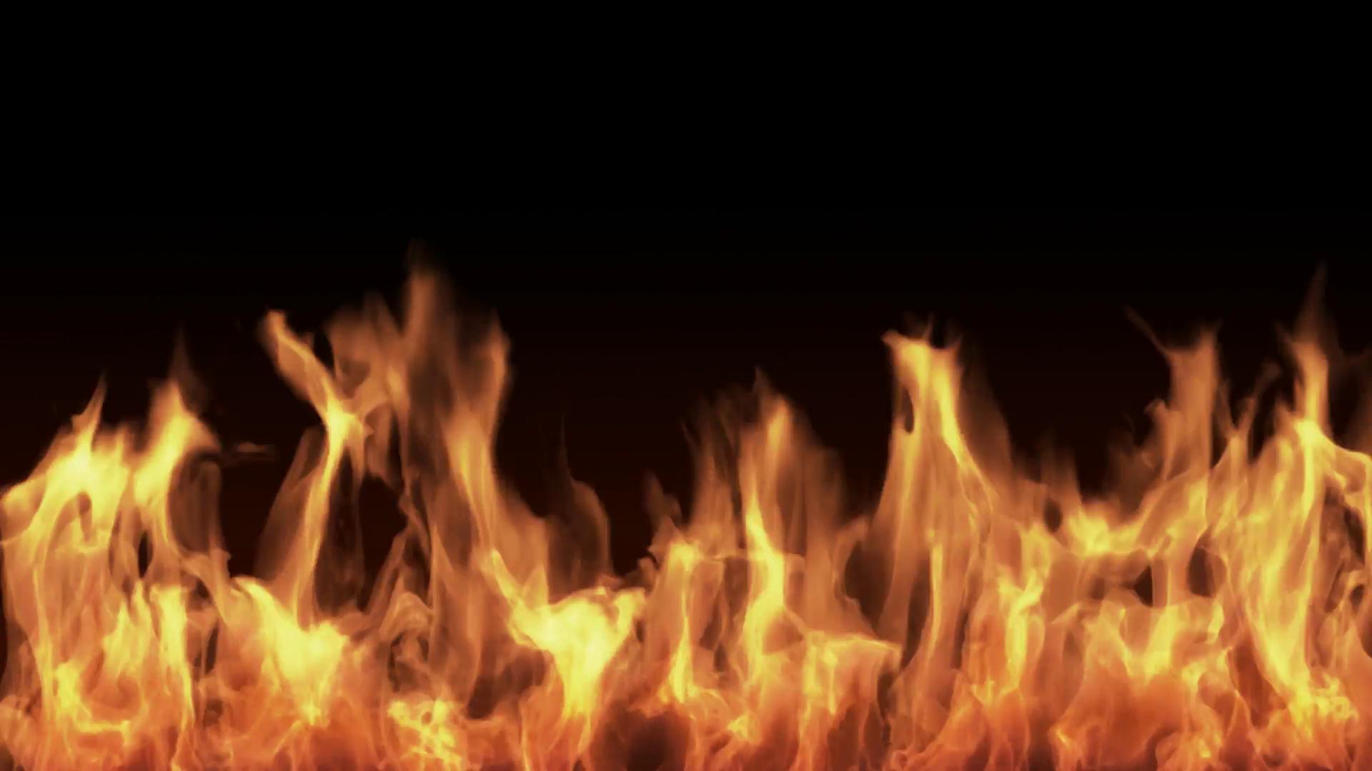 Fire burning black background Motion Background - Videoblocks