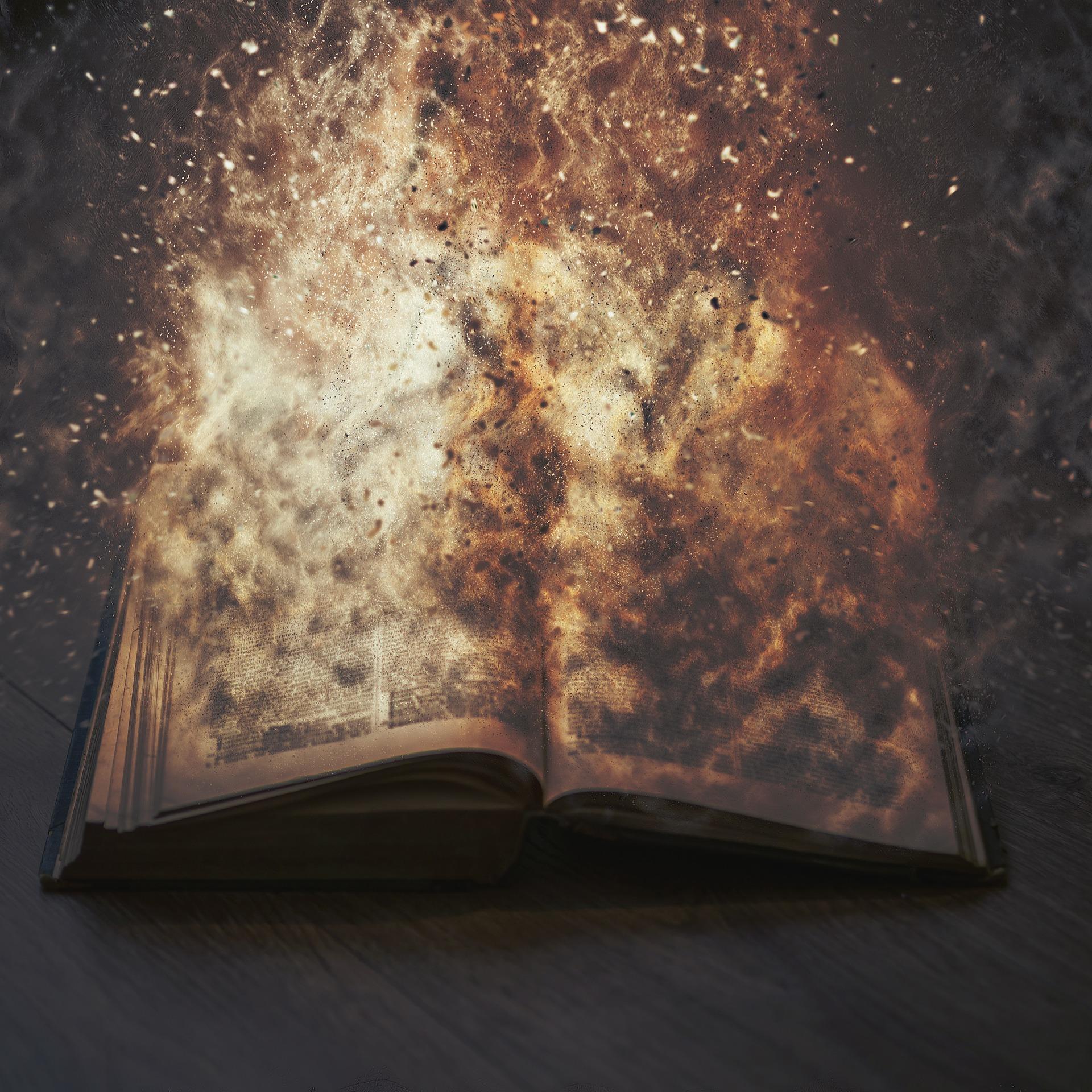 Burning book photo