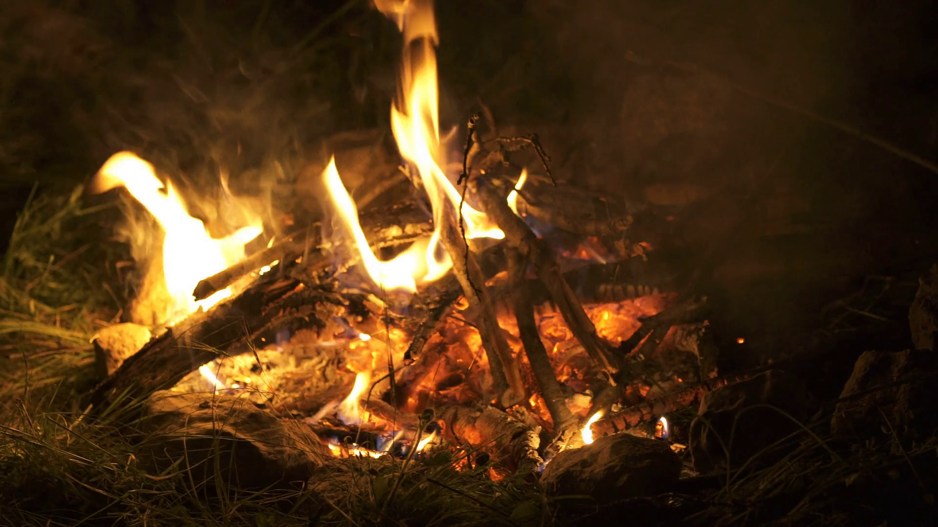 campfire camp fire summer burning fire/campfire . Close up. Stock ...