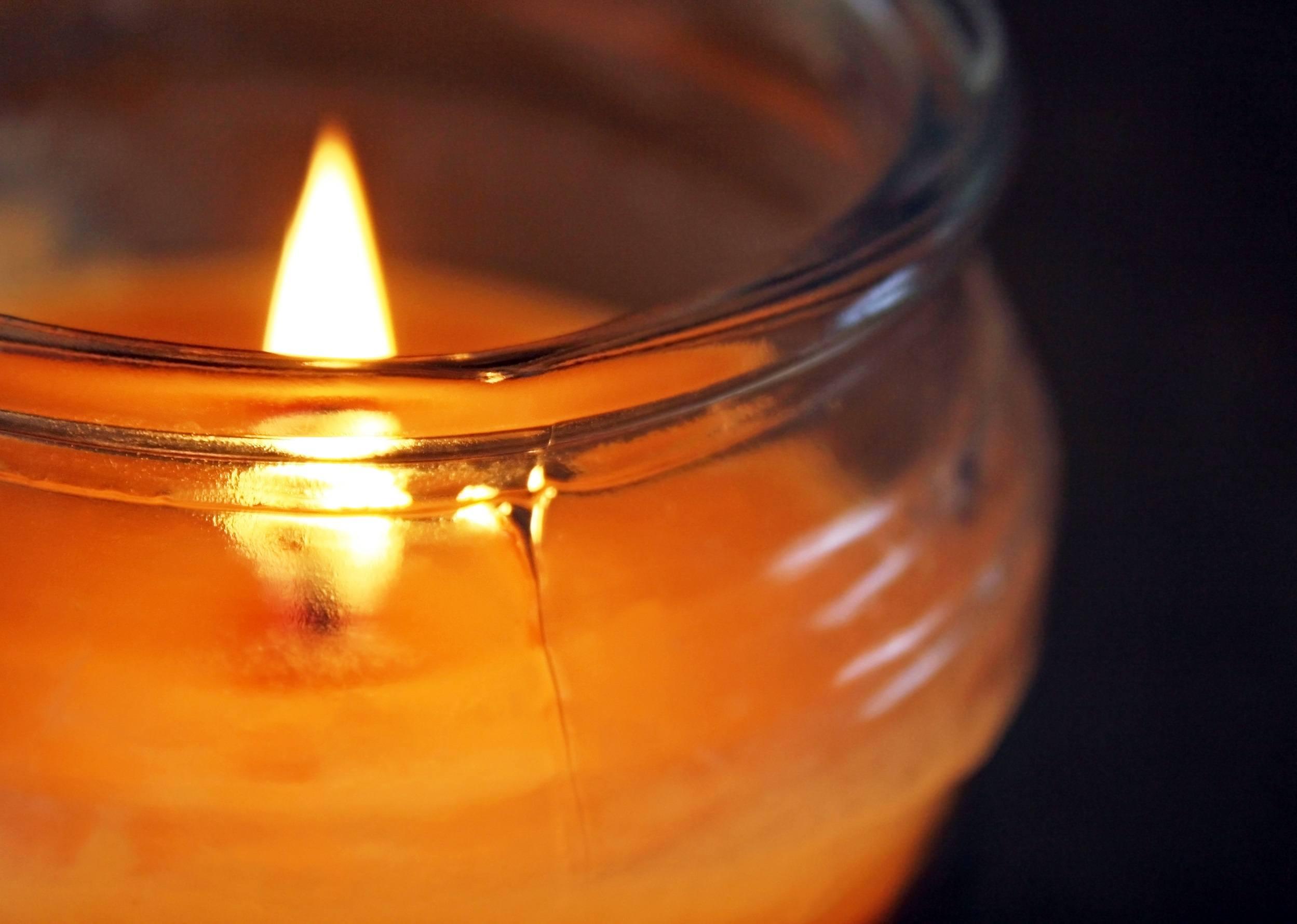 Burning candle photo