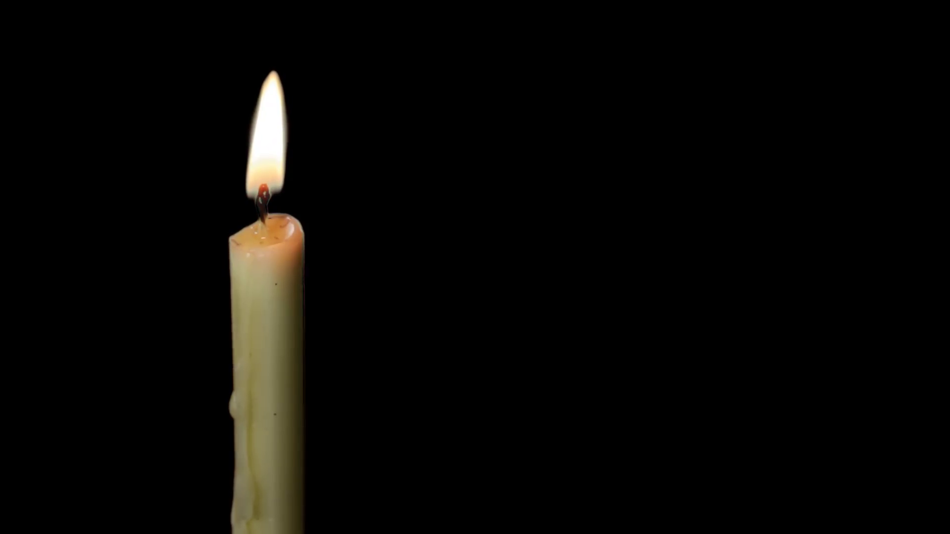 Burning Candle and Flame with Alpha Channel Stock Video Footage ...