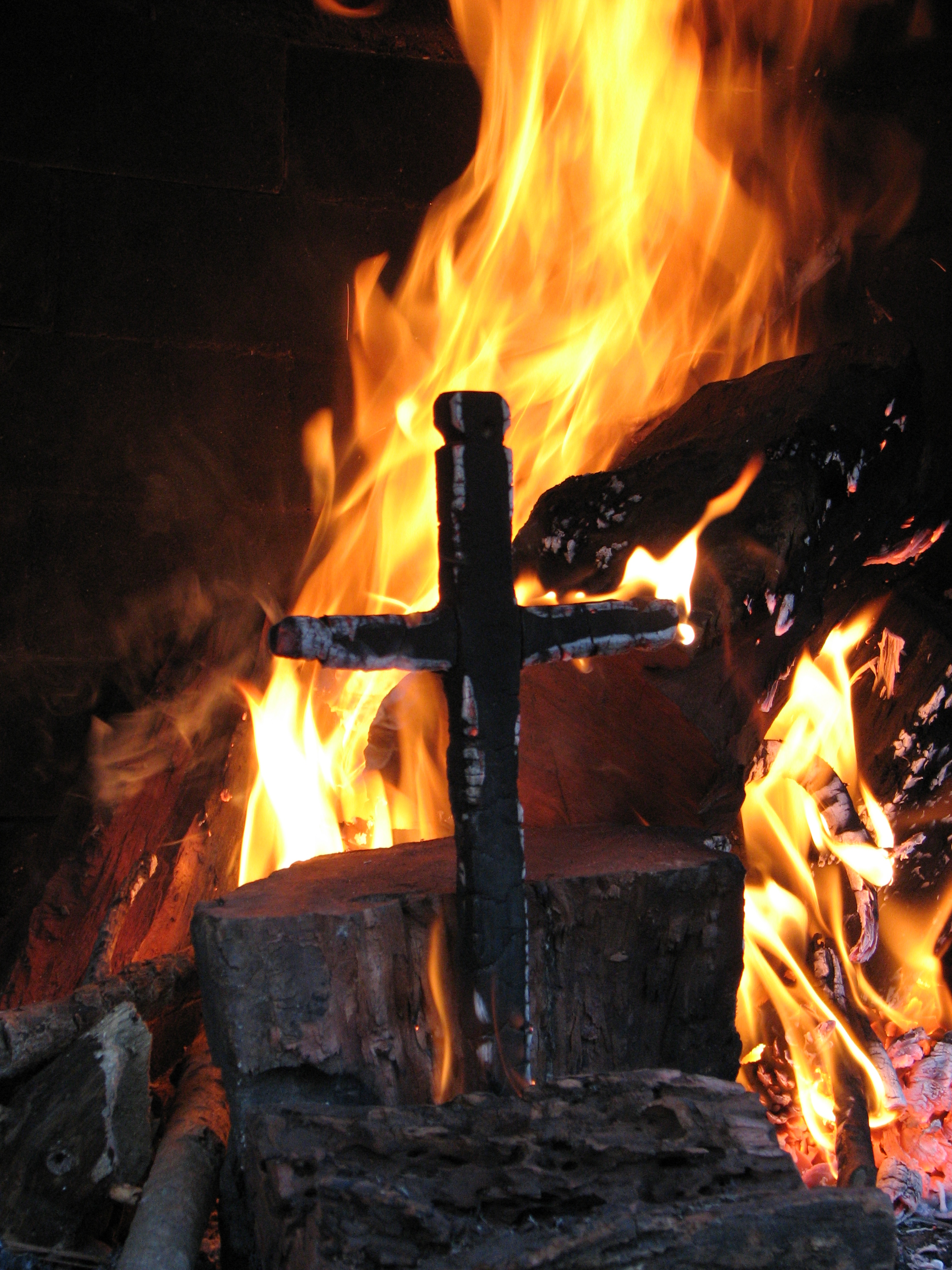 Burning cross photo