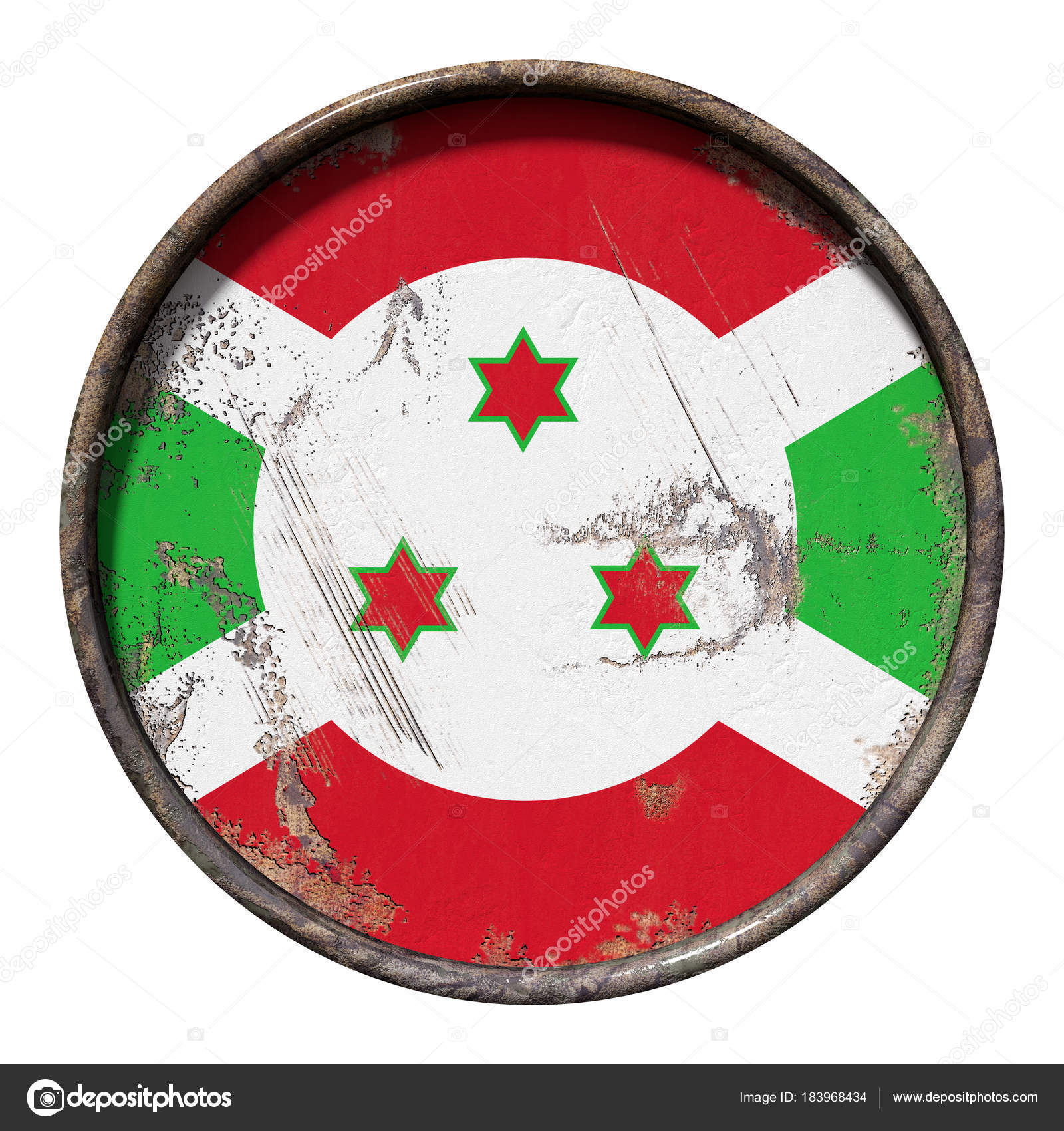 Old Burundi flag — Stock Photo © erllre #183968434