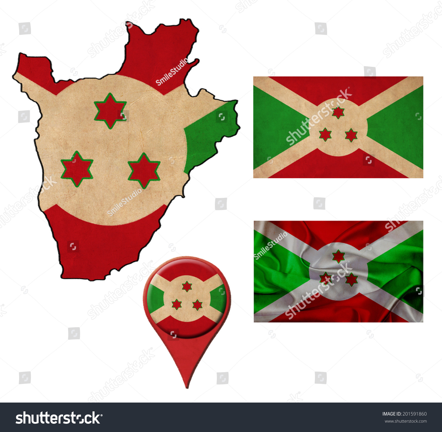 Grunge Burundi Flag Map Map Pointers Stock Illustration 201591860 ...