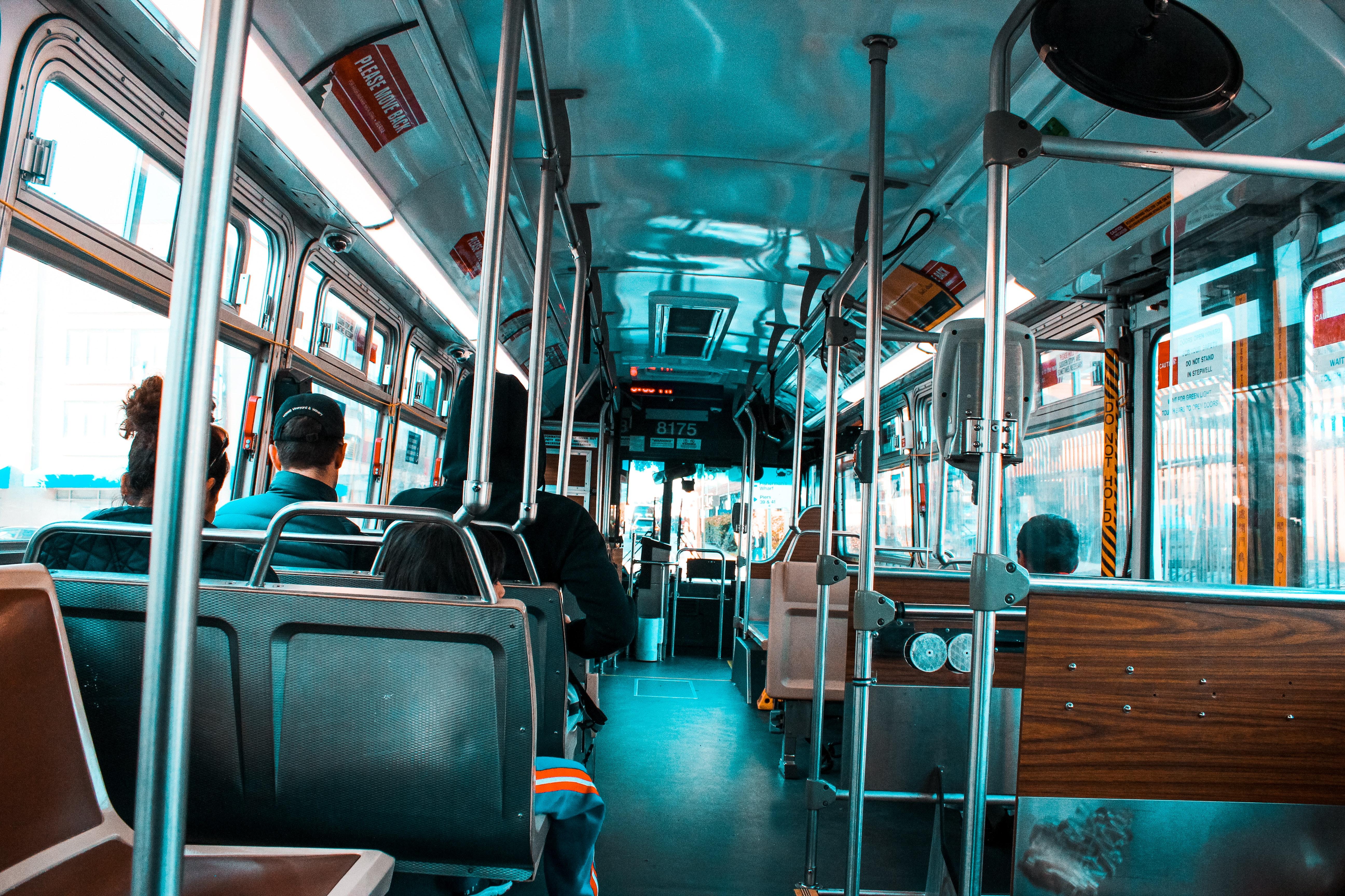 Bus bench seats photo