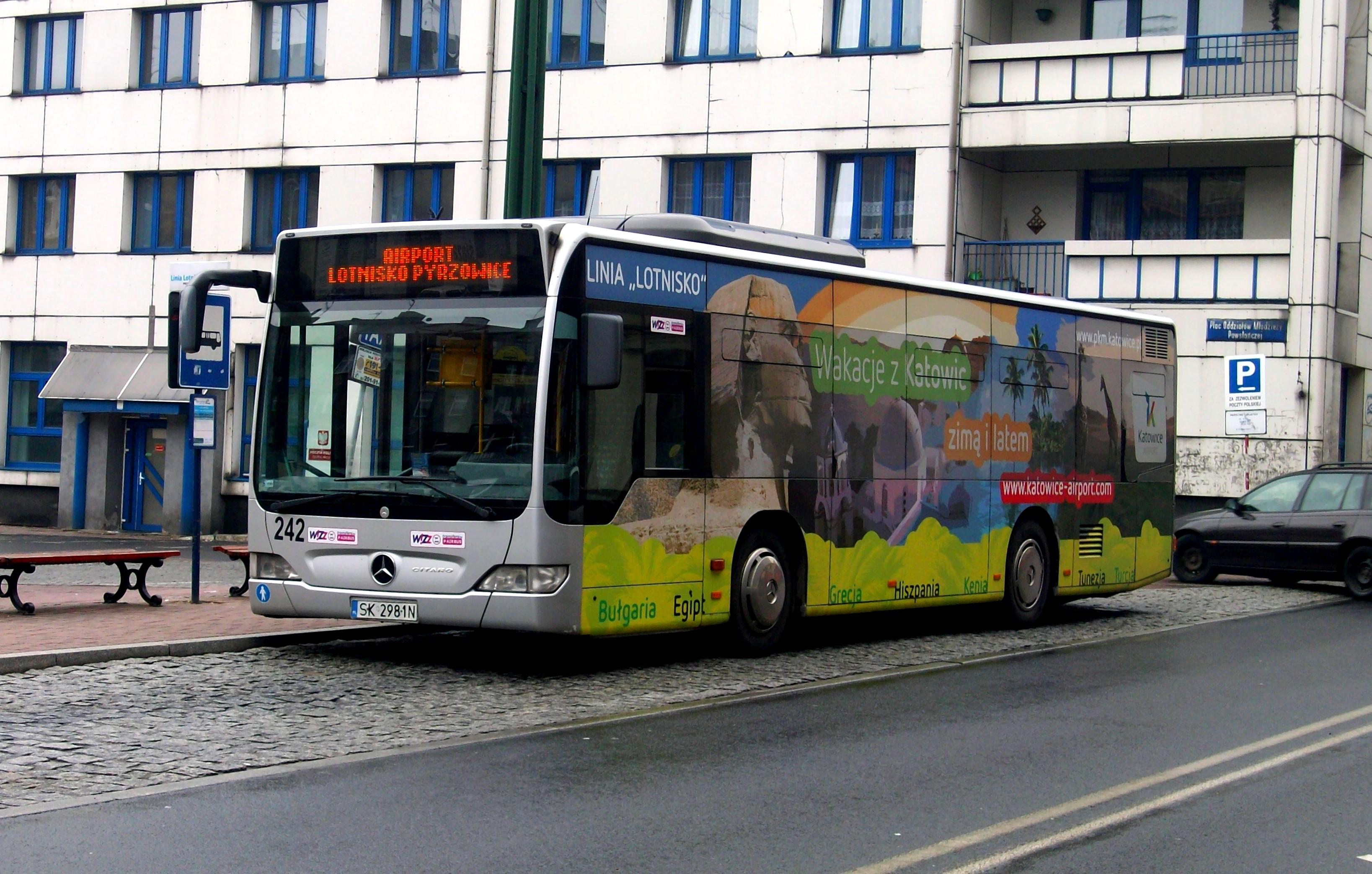 File:Mercedes-Benz Citaro Katowice n°242 Airport bus.JPG - Wikimedia ...