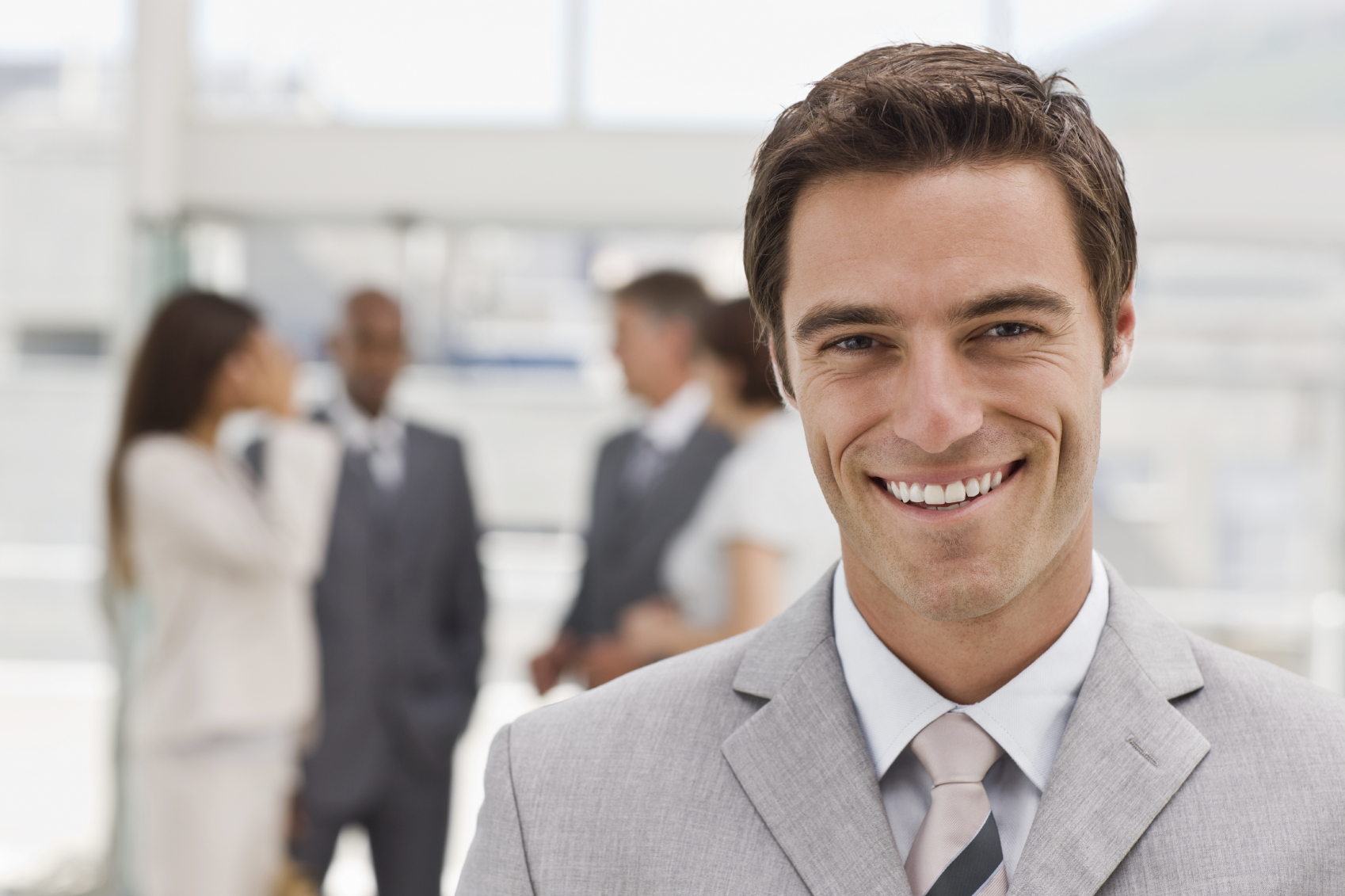 Portrait of happy young businessman - Online MBA