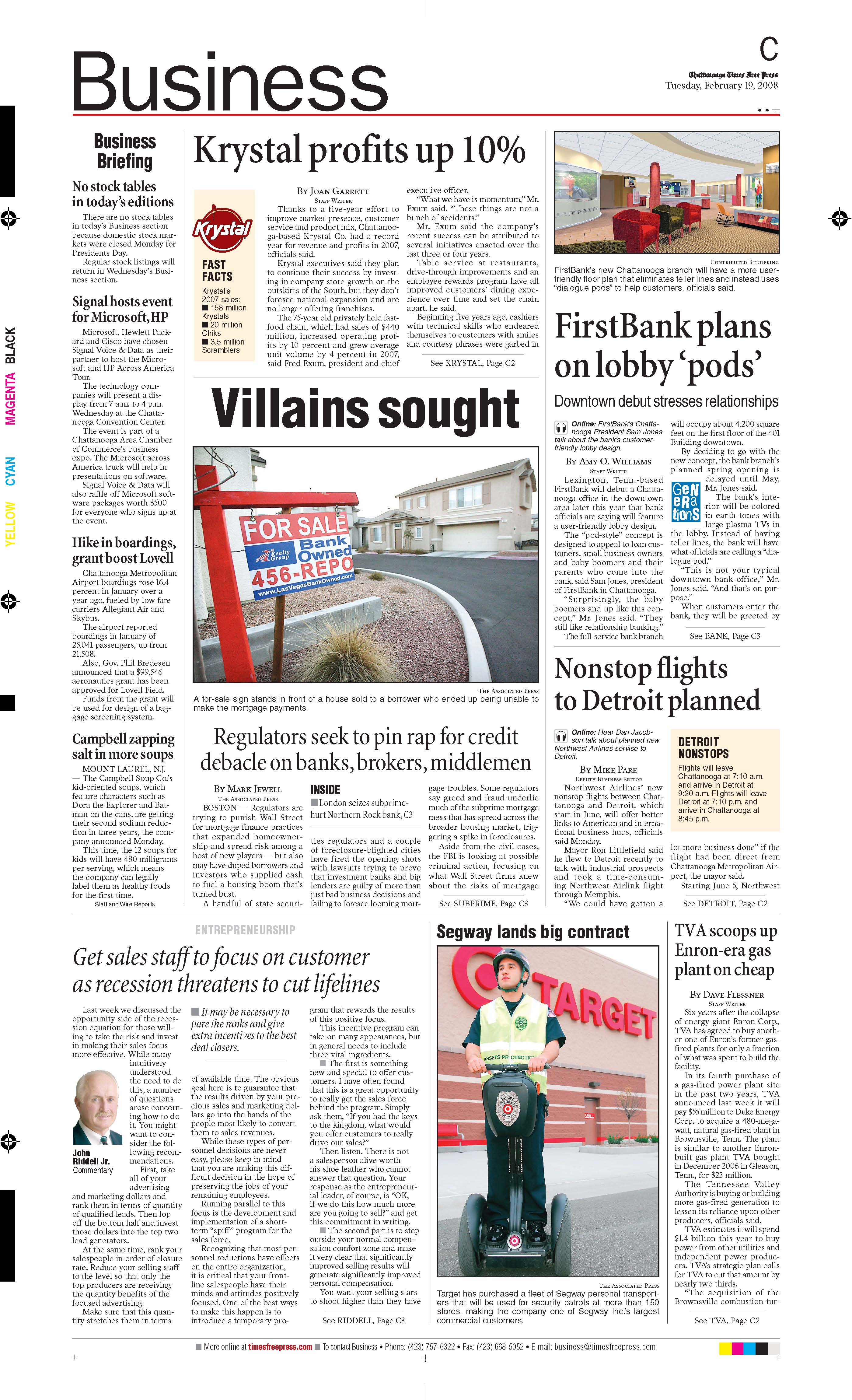Chattanooga business section focuses on local news - Talking Biz News