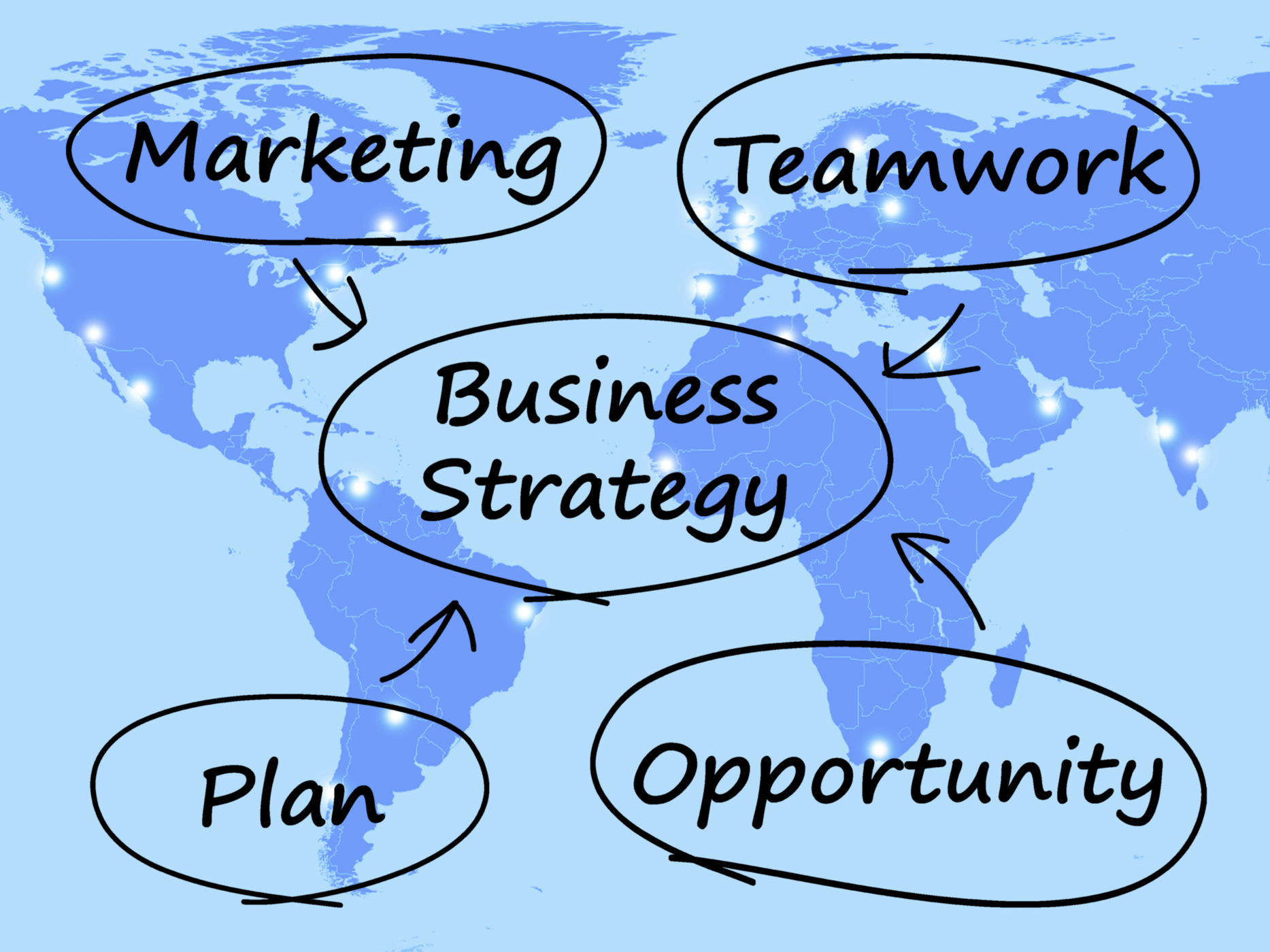 Business Strategy Diagram Showing Teamwork And Plan, Achieve, Objective, Successful, Success, HQ Photo
