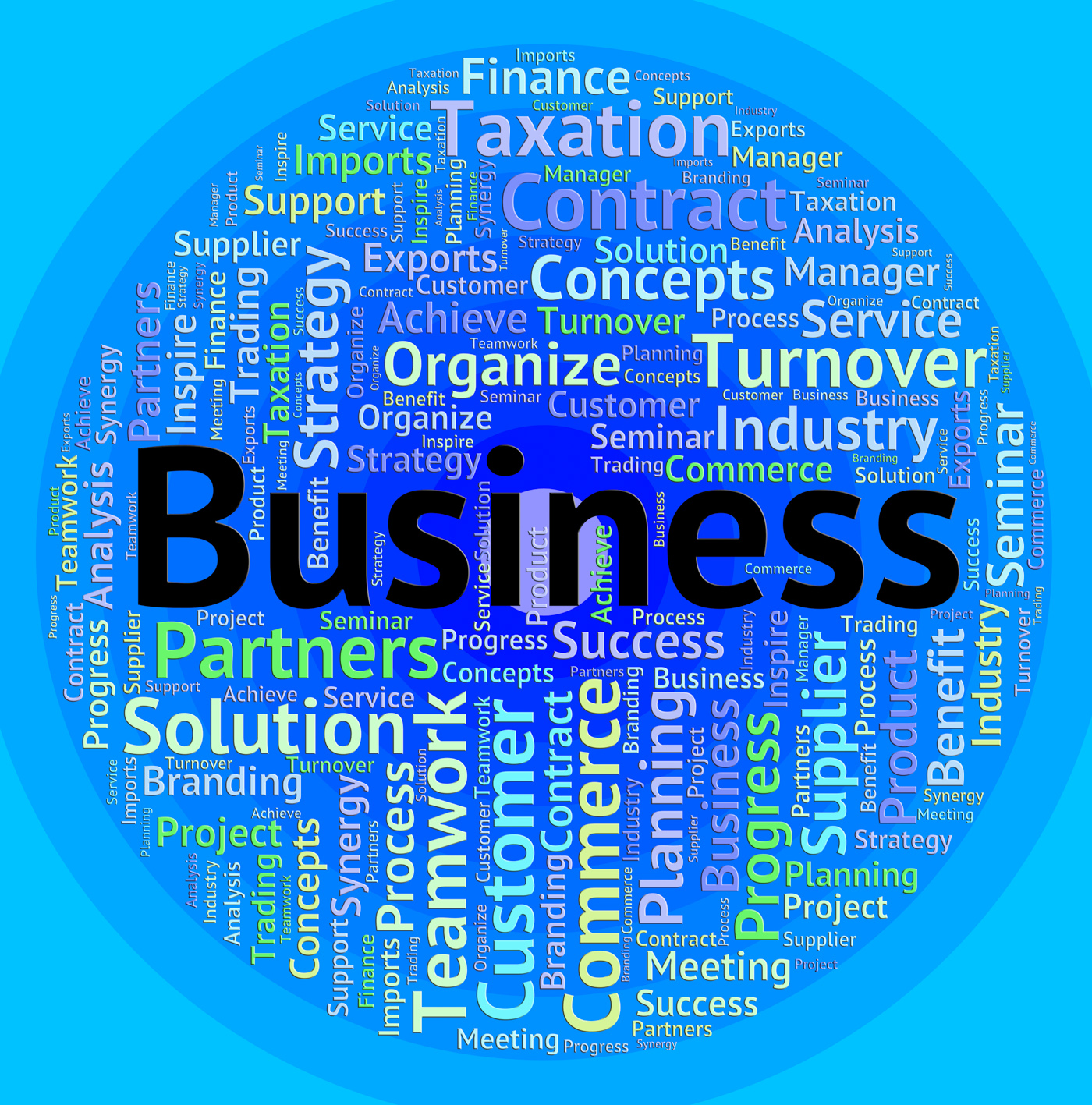 Business word indicates corporate corporation and trade photo