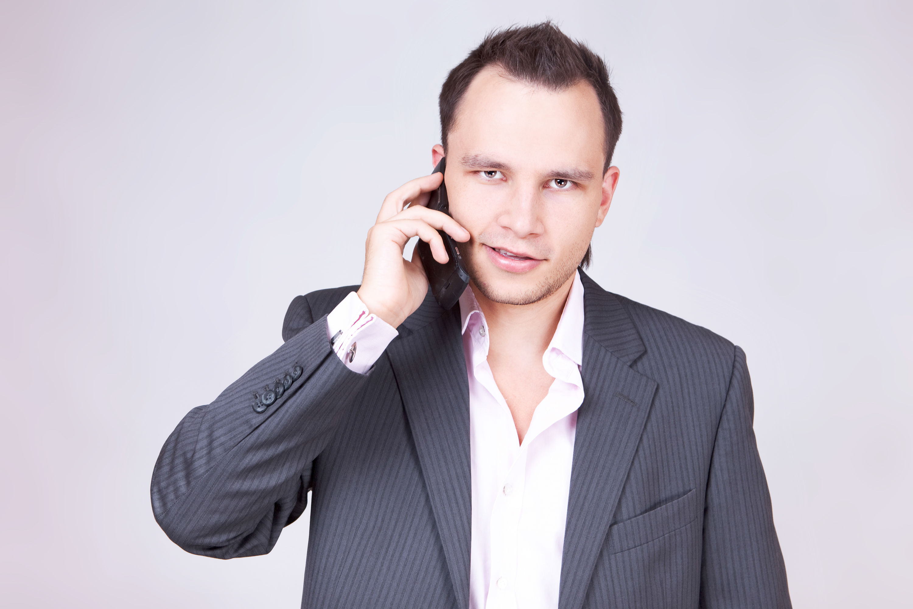 Businessman on the Phone, Adult, Mobile, Talk, Studio, HQ Photo