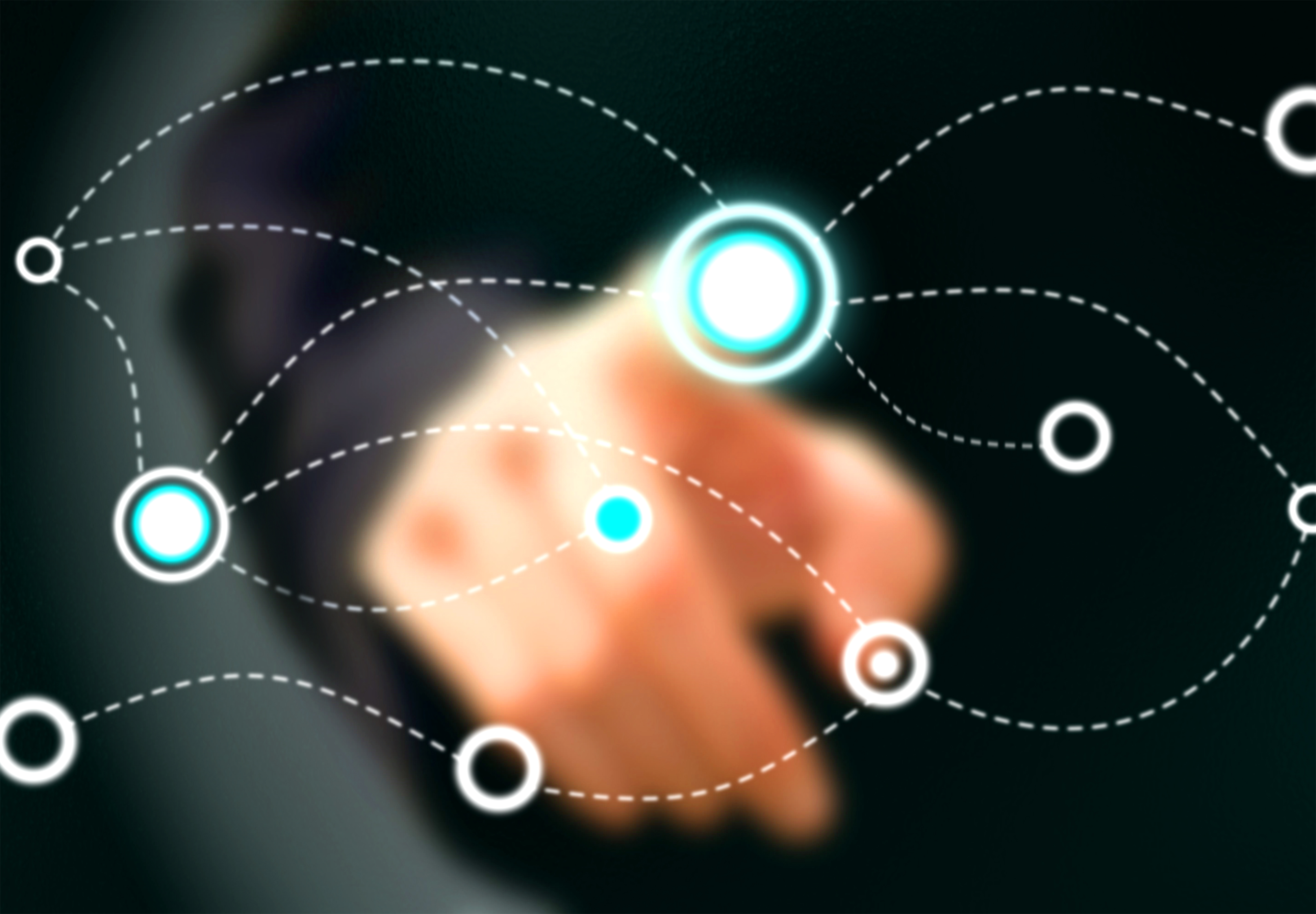 Businessman touching virtual screen, Abstract, Medium, People, Partner, HQ Photo