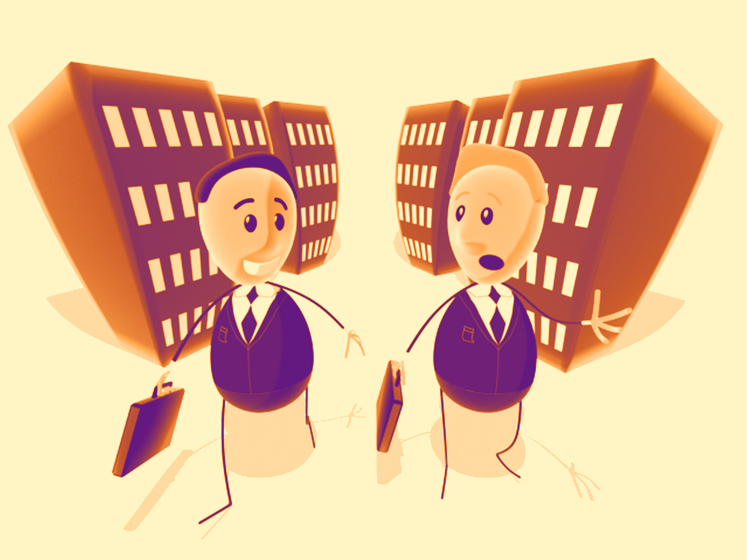 Businessmen, illustration