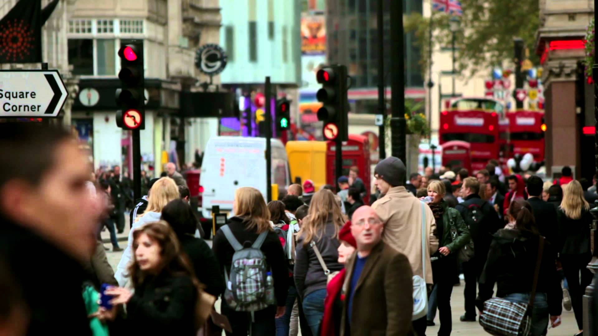 Busy people walking the city streets in London, HD Stock Footage ...