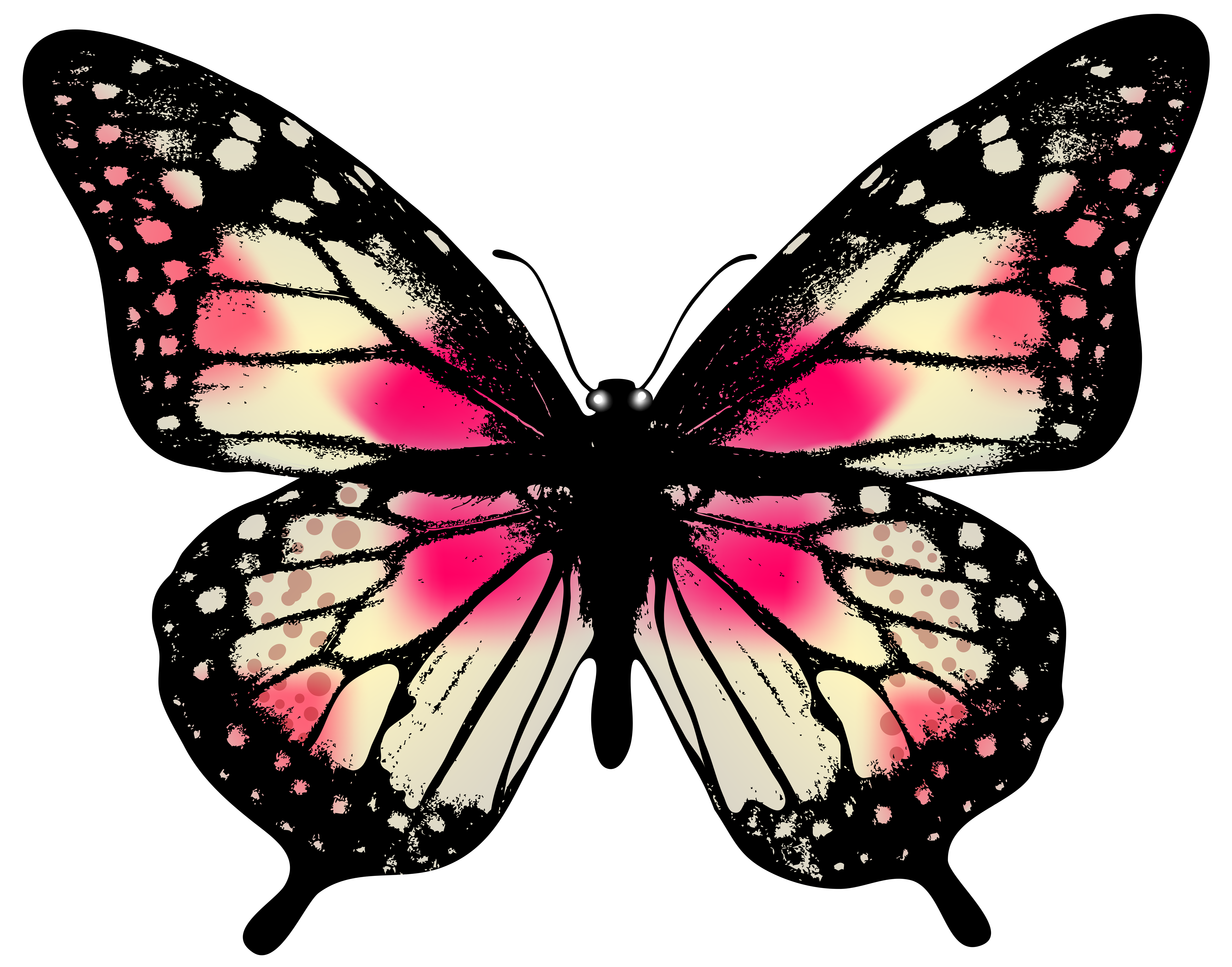 Large Pink Butterfly PNG Clip Art Image | Gallery Yopriceville ...