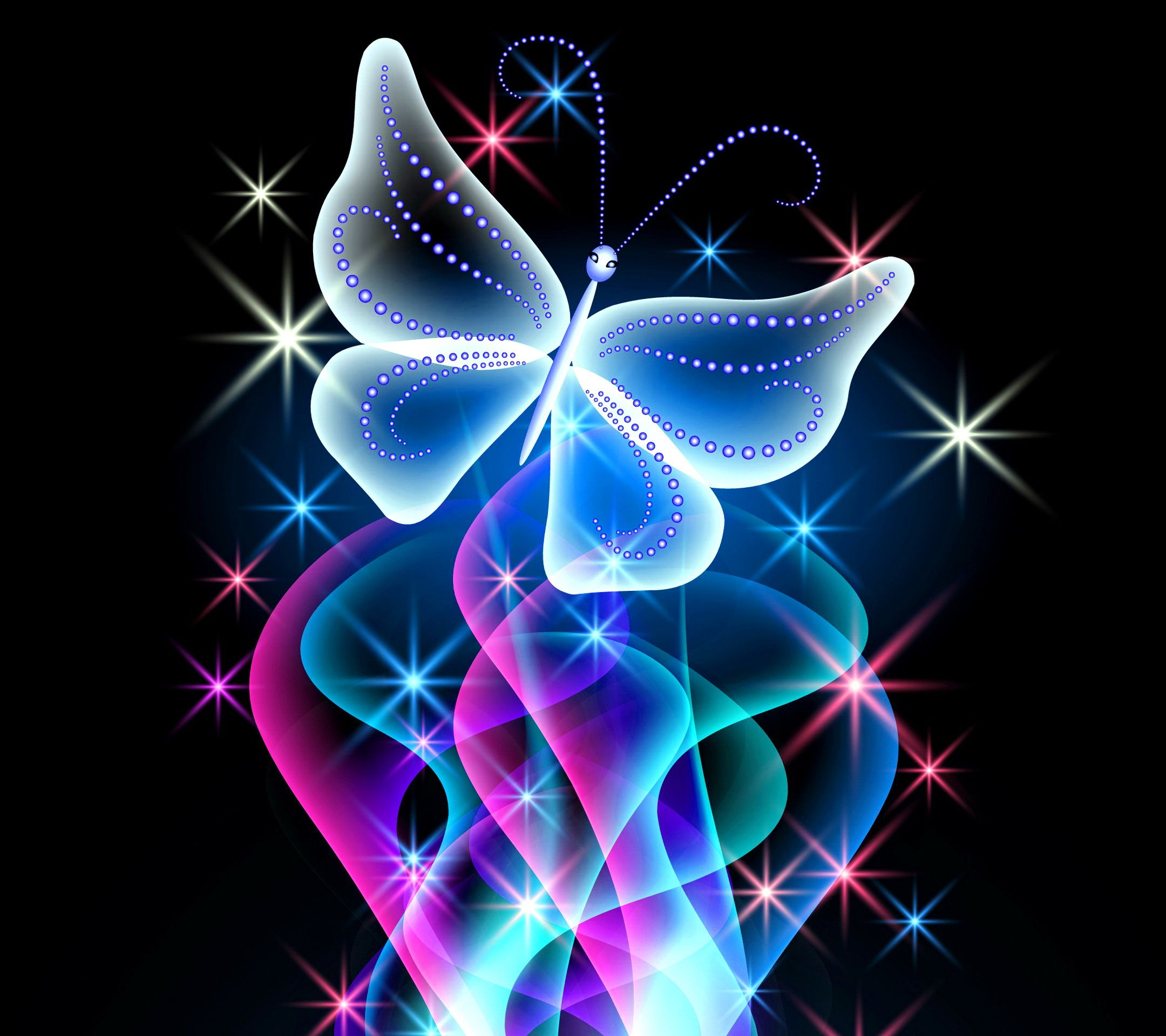 Butterfly fractal background photo