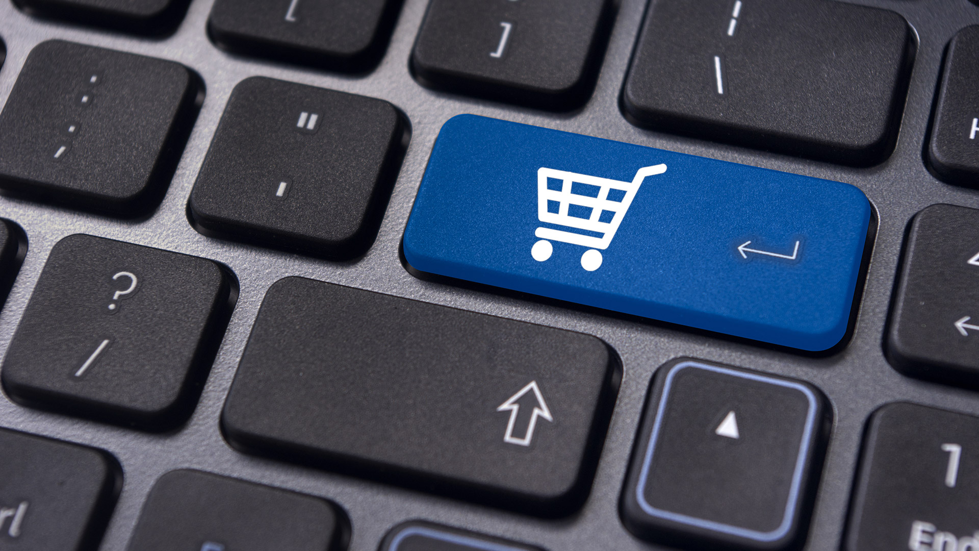Buy computer key for commerce or retail photo