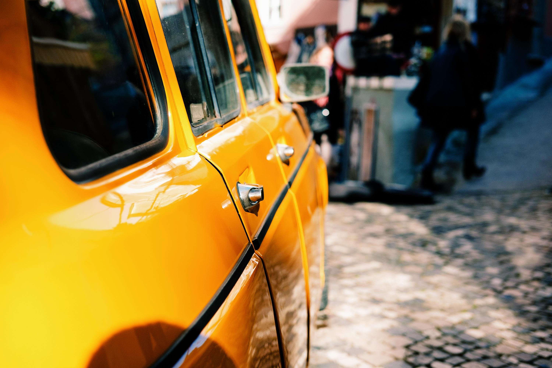 Cab, Car, City, Street, Taxi, HQ Photo