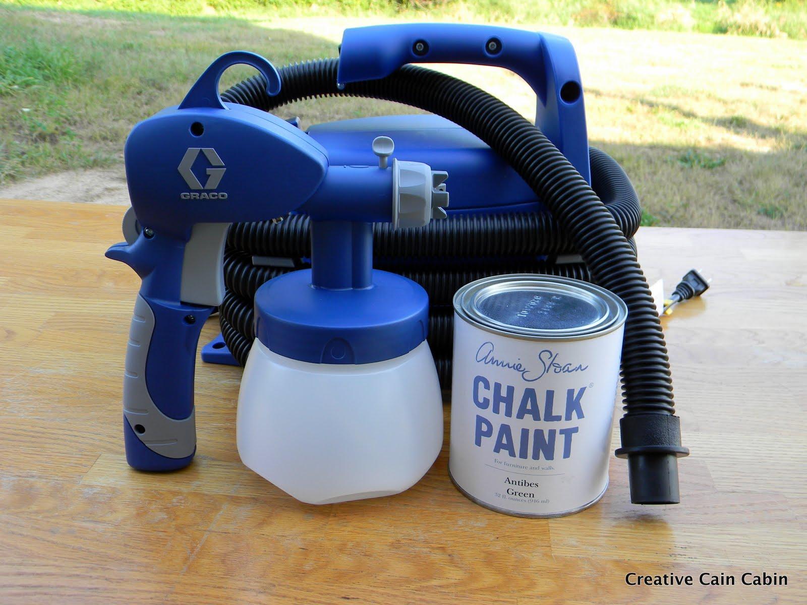 Annie Sloan Chalk Paint through a Sprayer - CREATIVE CAIN CABIN