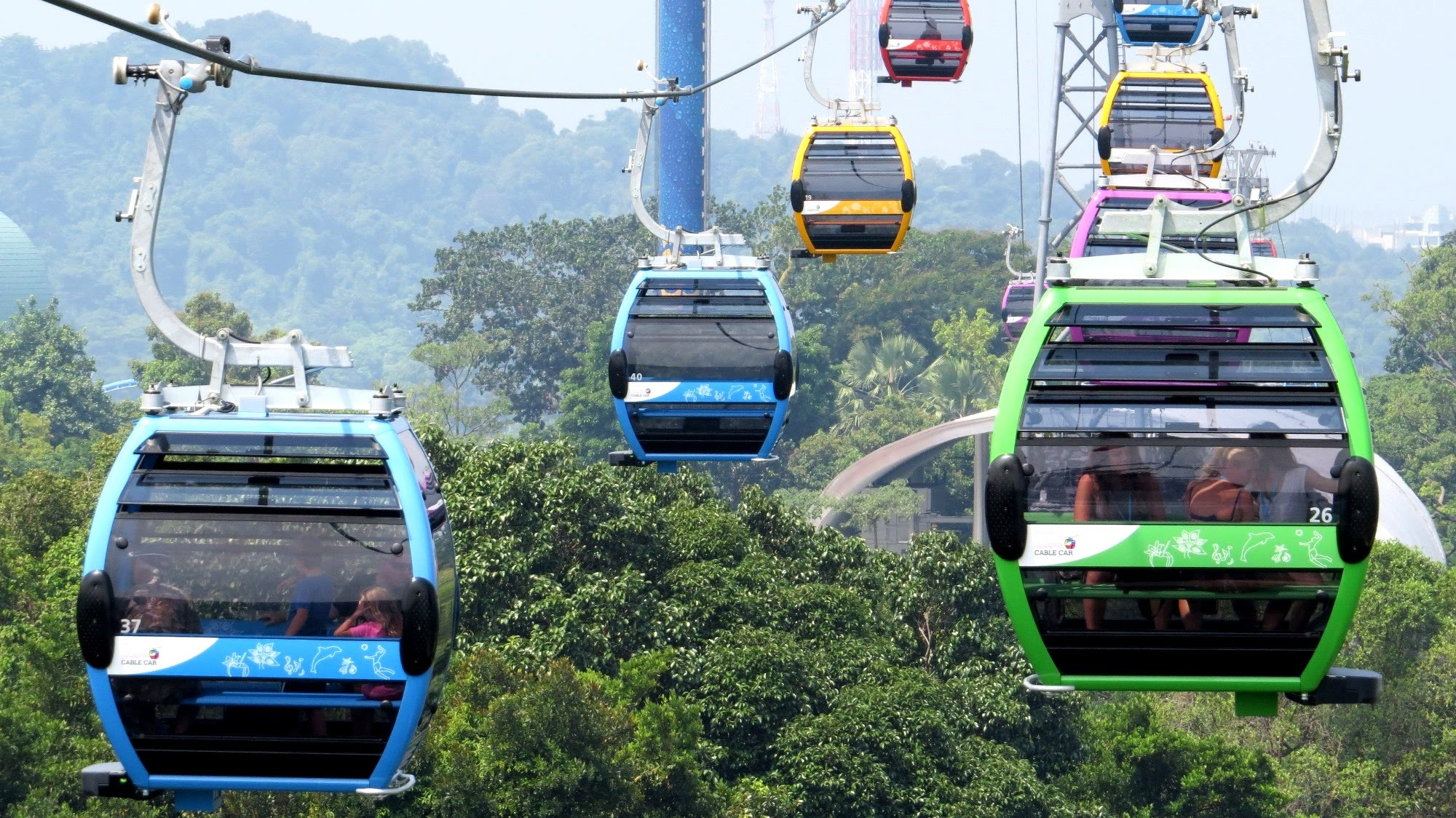 Sentosa Line Cable Car Newly Opened - YouTube