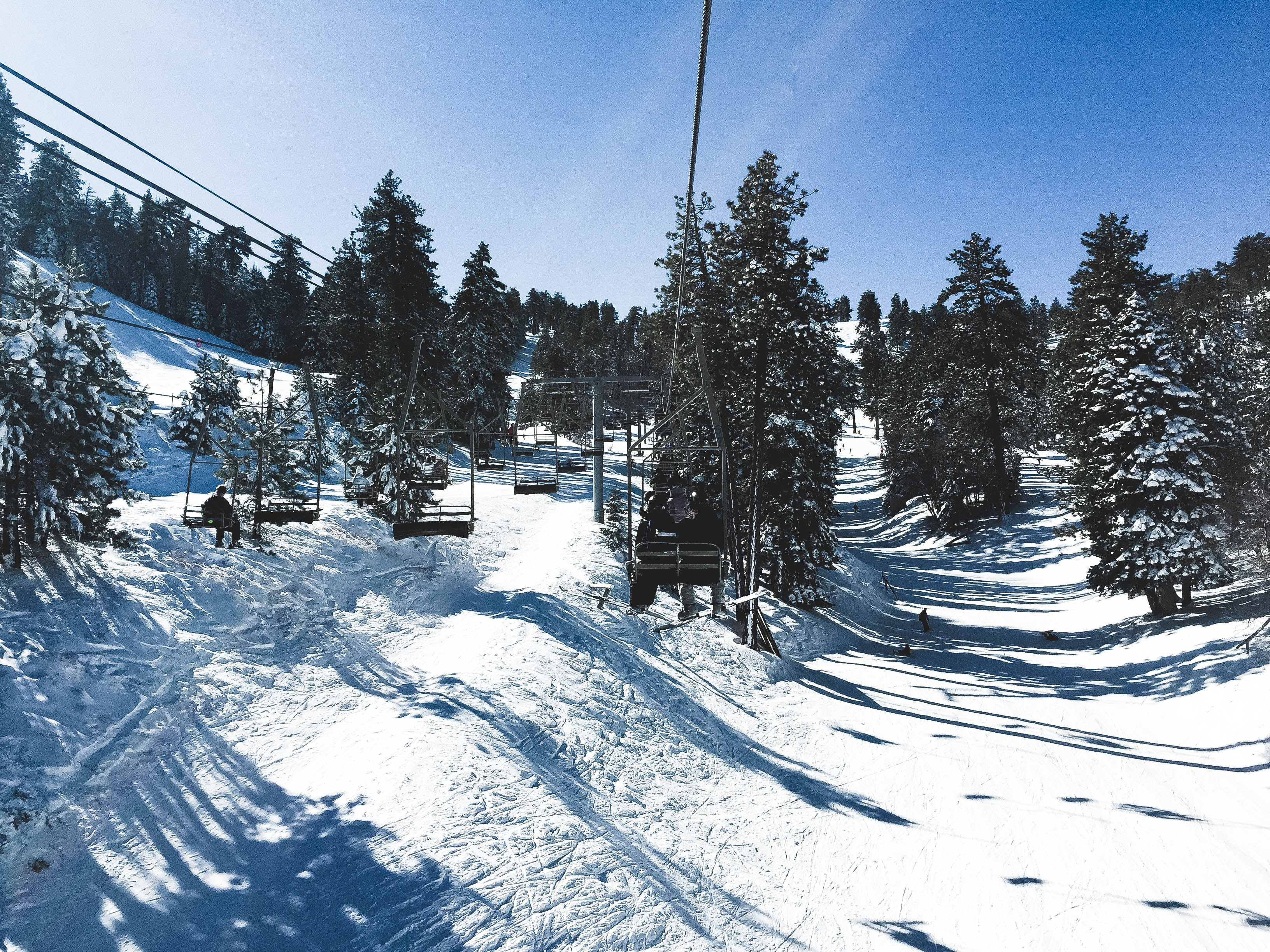 Cable Car, Outdoors, Weather, Trees, Snowy, HQ Photo