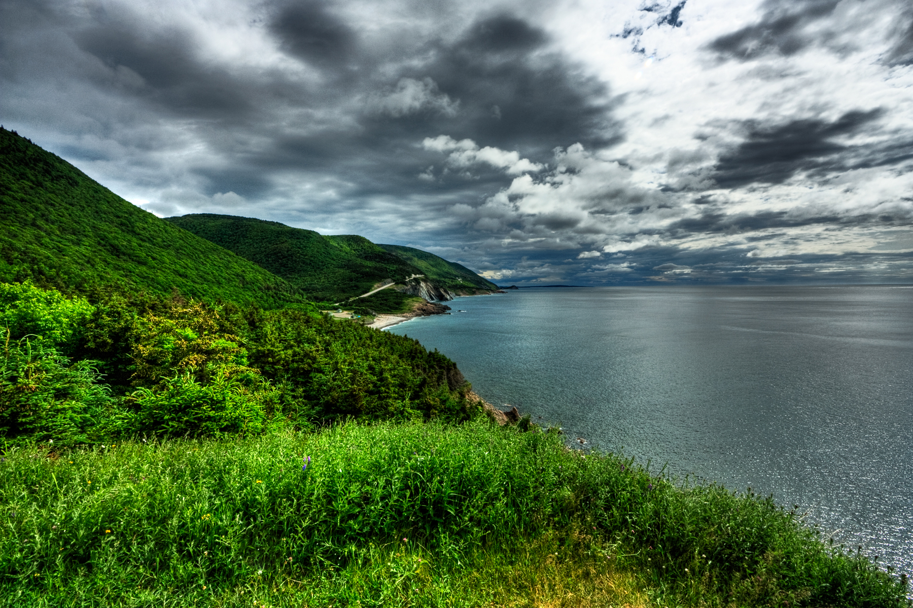 Cabot trail scenery - hdr photo