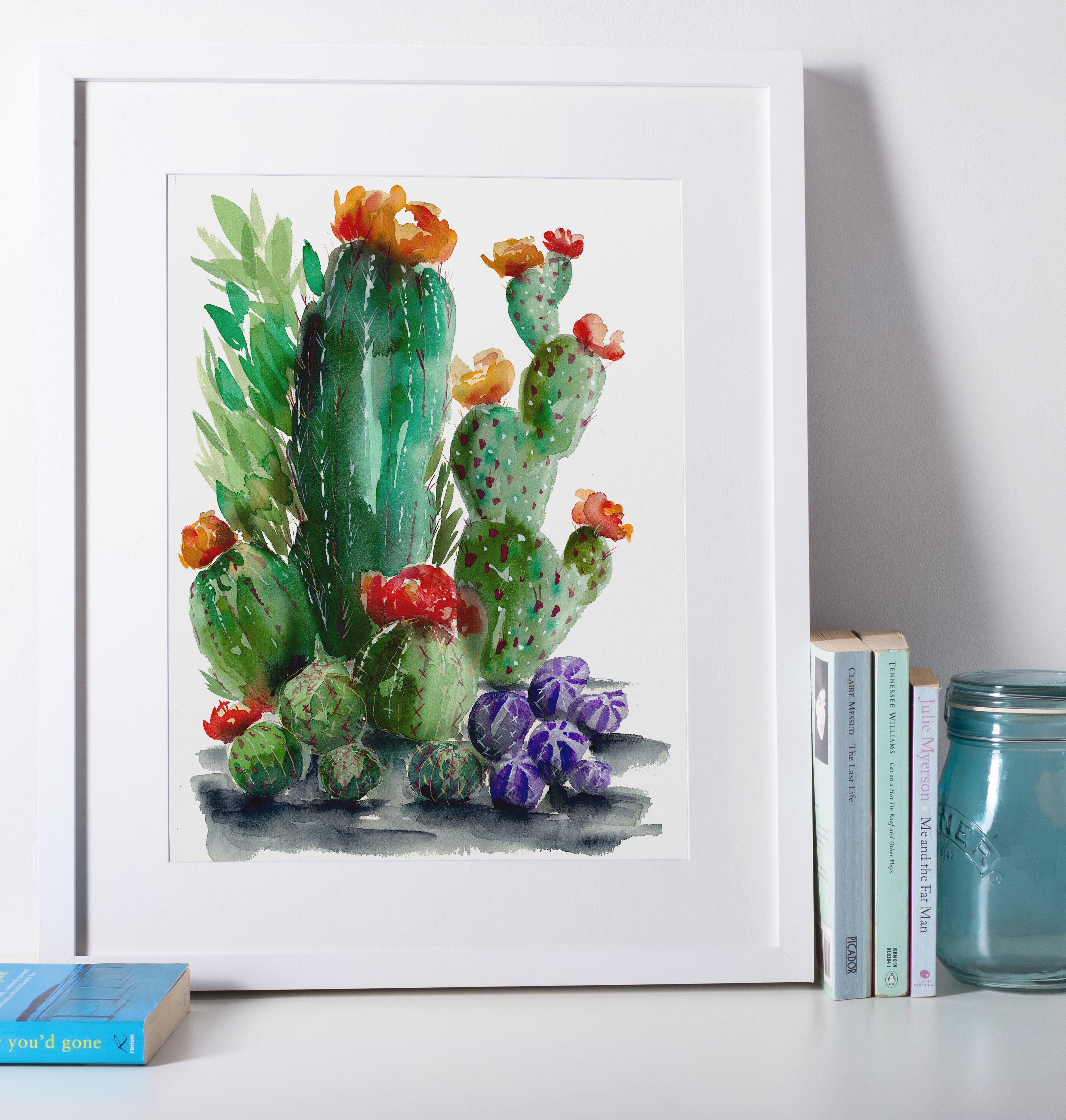 Watercolor Cacti 6 - Cactus Collection - Angelique Abare