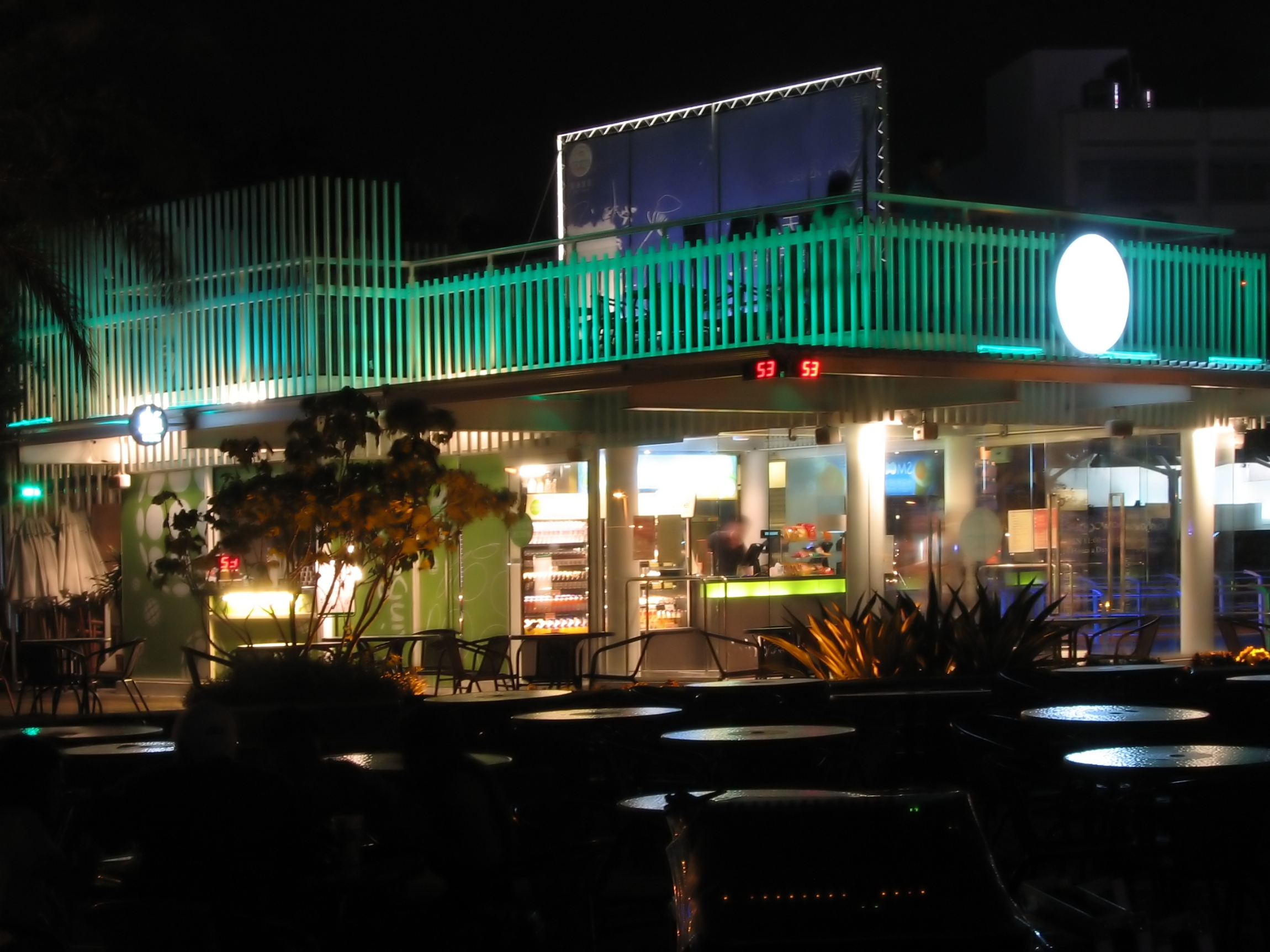 Cafe by night photo