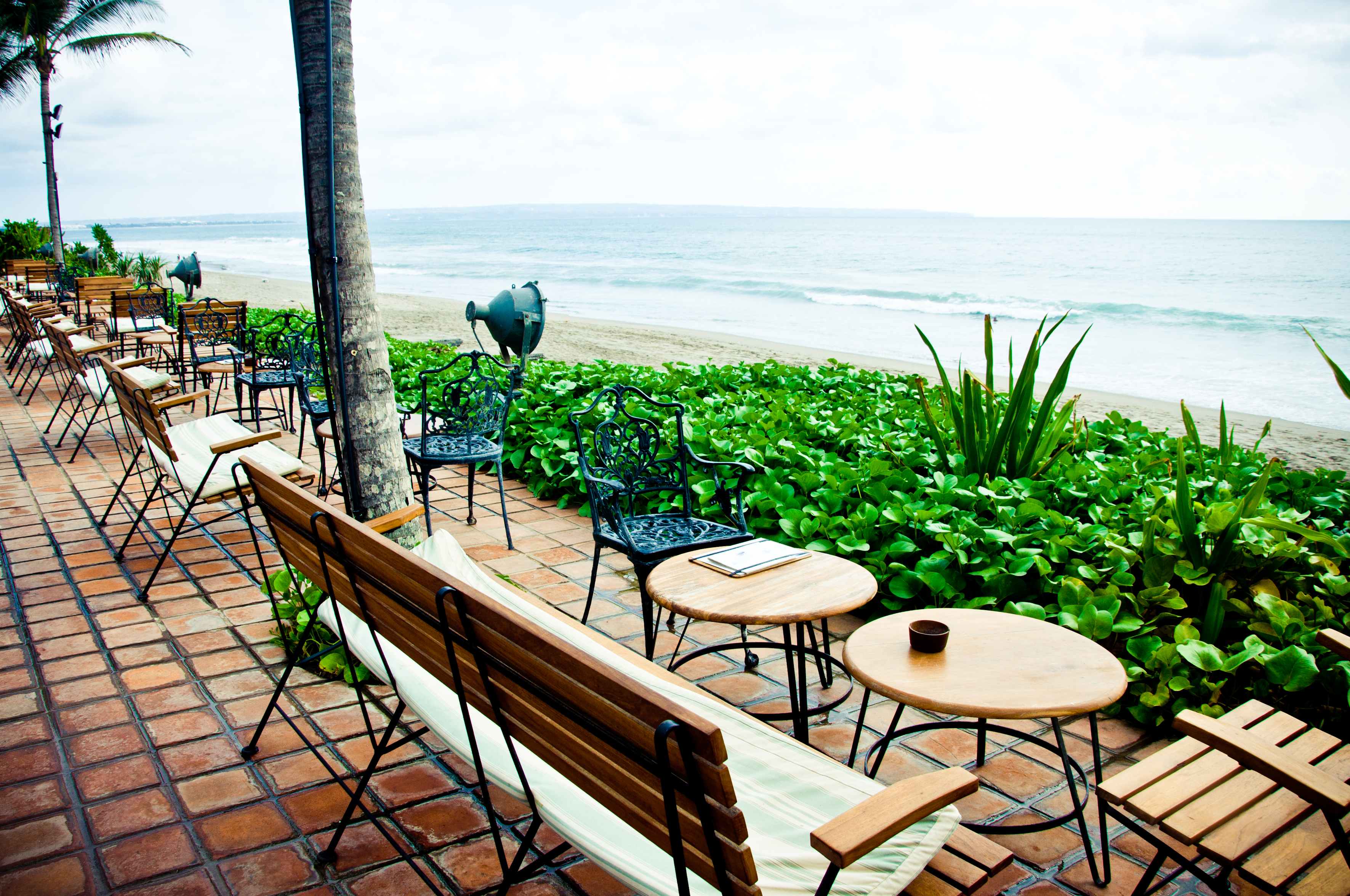 Cafe by the beach, Architecture, Sky, Palm, Paradise, HQ Photo