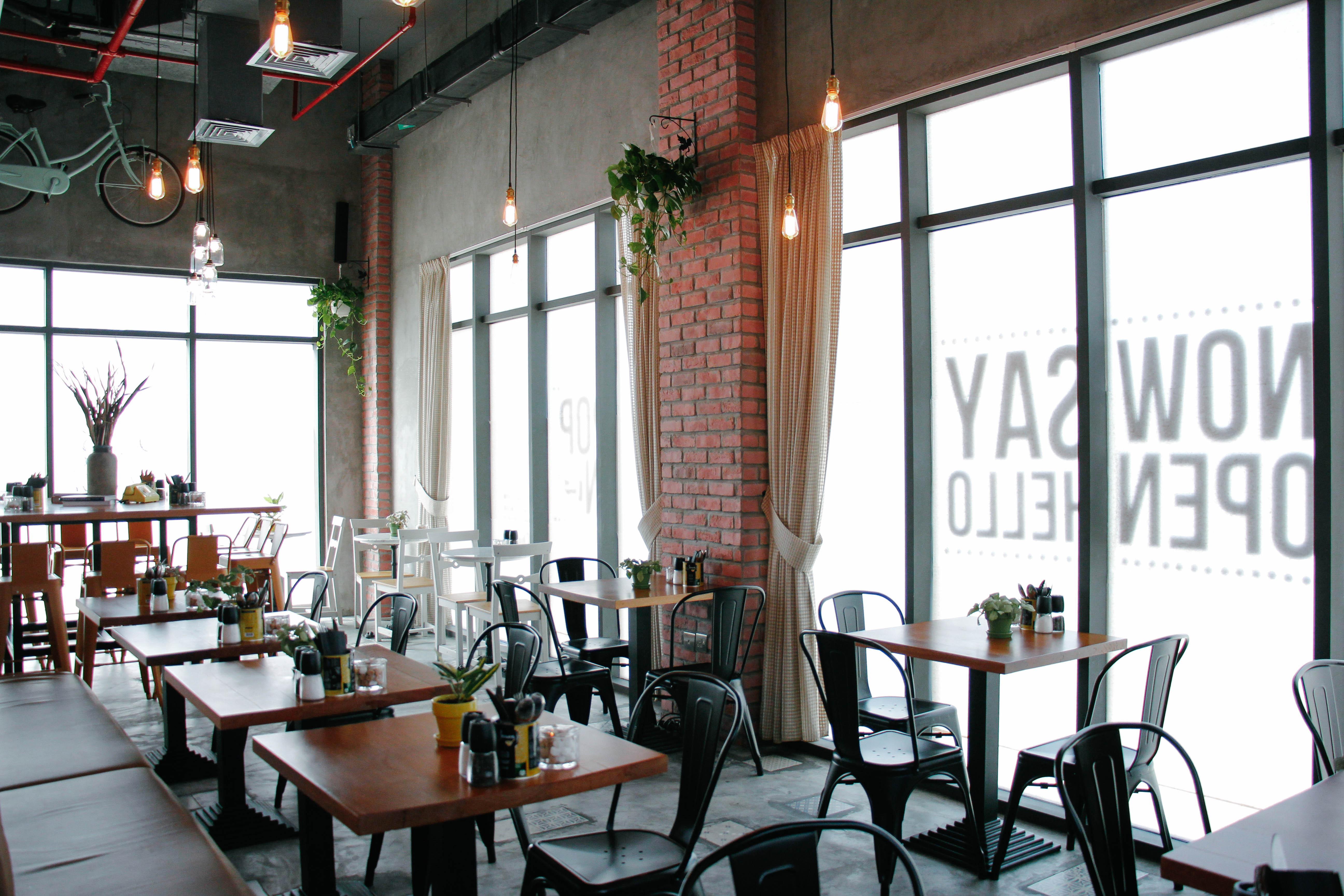 Free Photo Cafe Interior Cafe Customers Interior