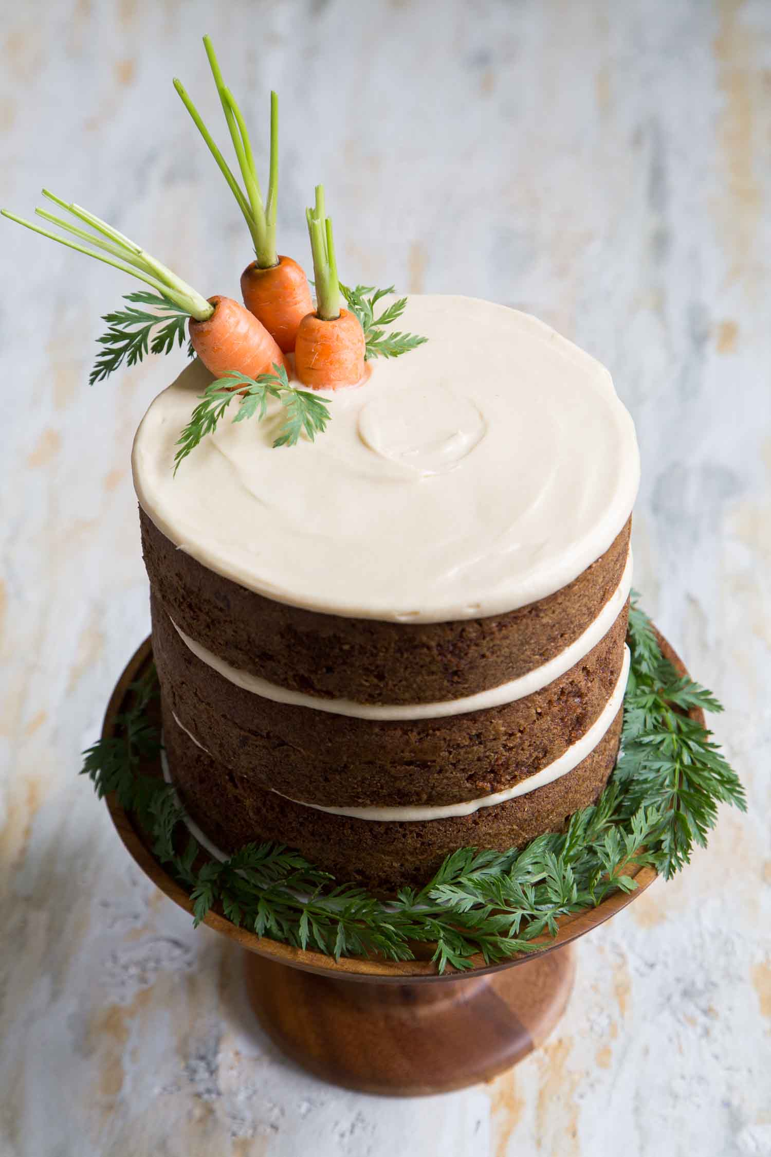 Carrot Cake with Brown Sugar Cream Cheese- The Little Epicurean