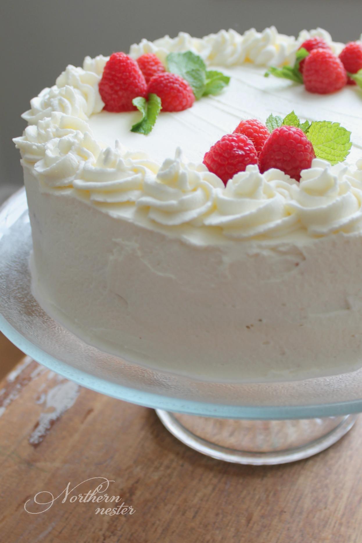 Lemon Raspberry Mousse Cake | THM: S - Northern Nester