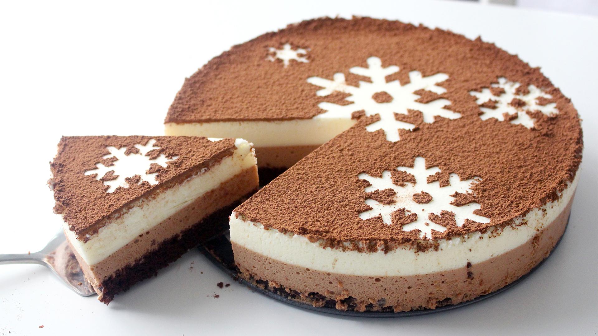 Chocolate Snowflake Mousse Cake ~ Recipe | Tastemade