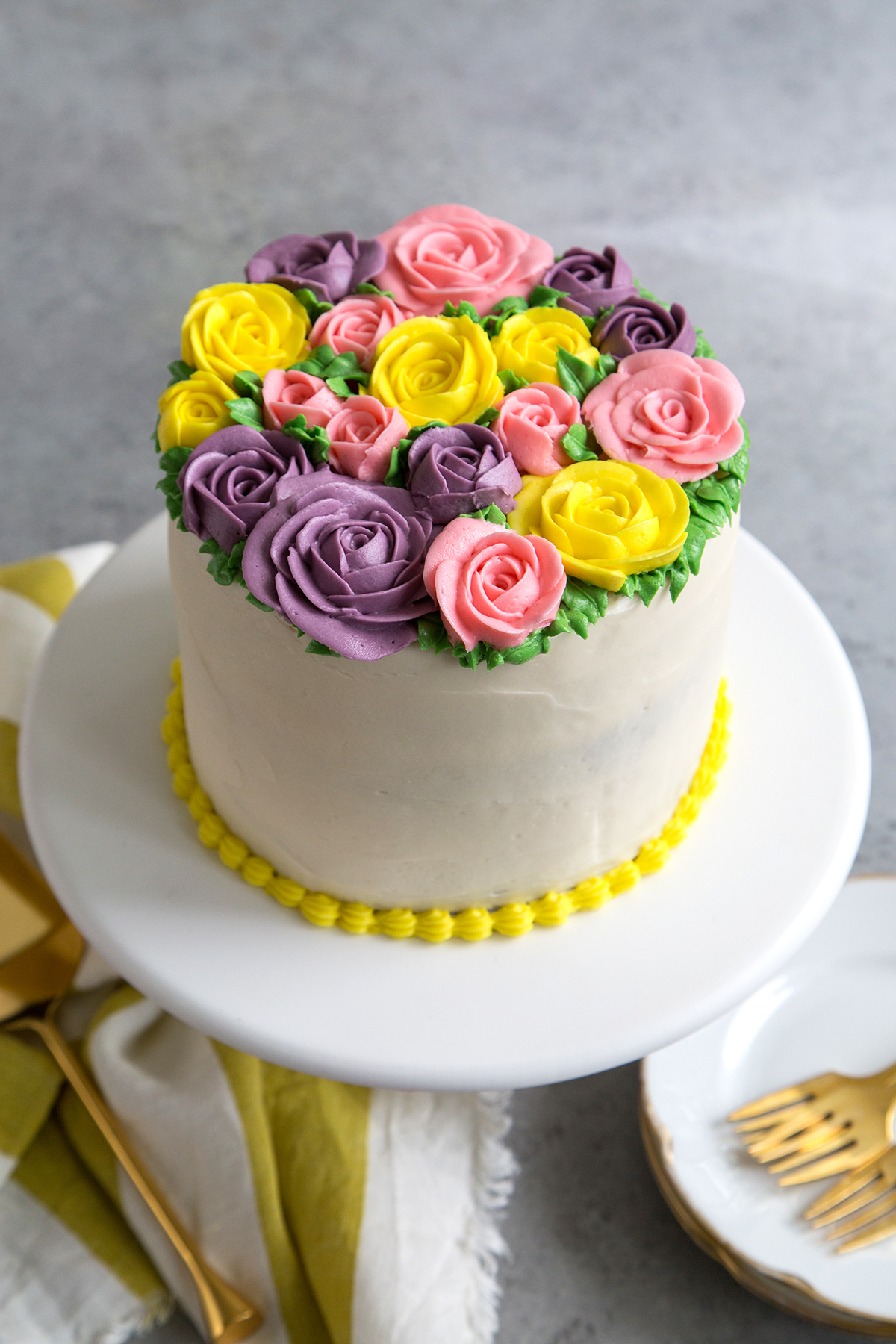 Buttercream Flowers Cake- The Little Epicurean